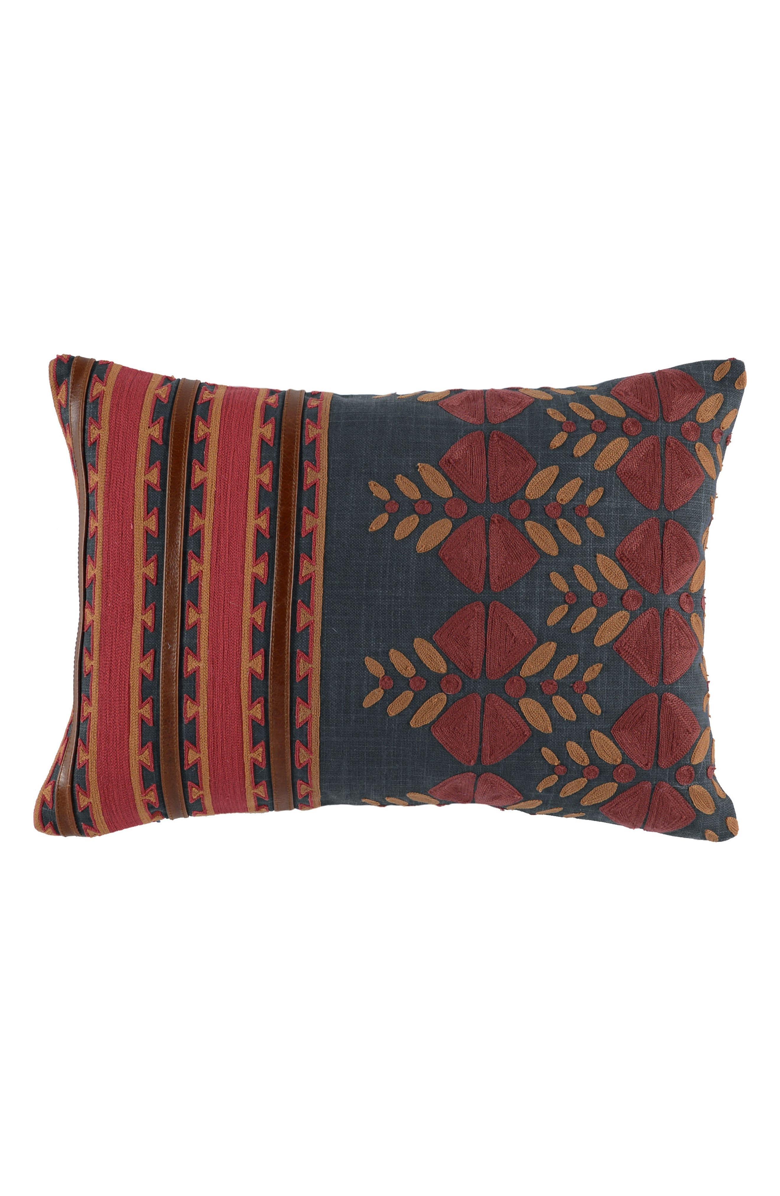 Kaleta Accent Pillow,                         Main,                         color, Red/ Navy