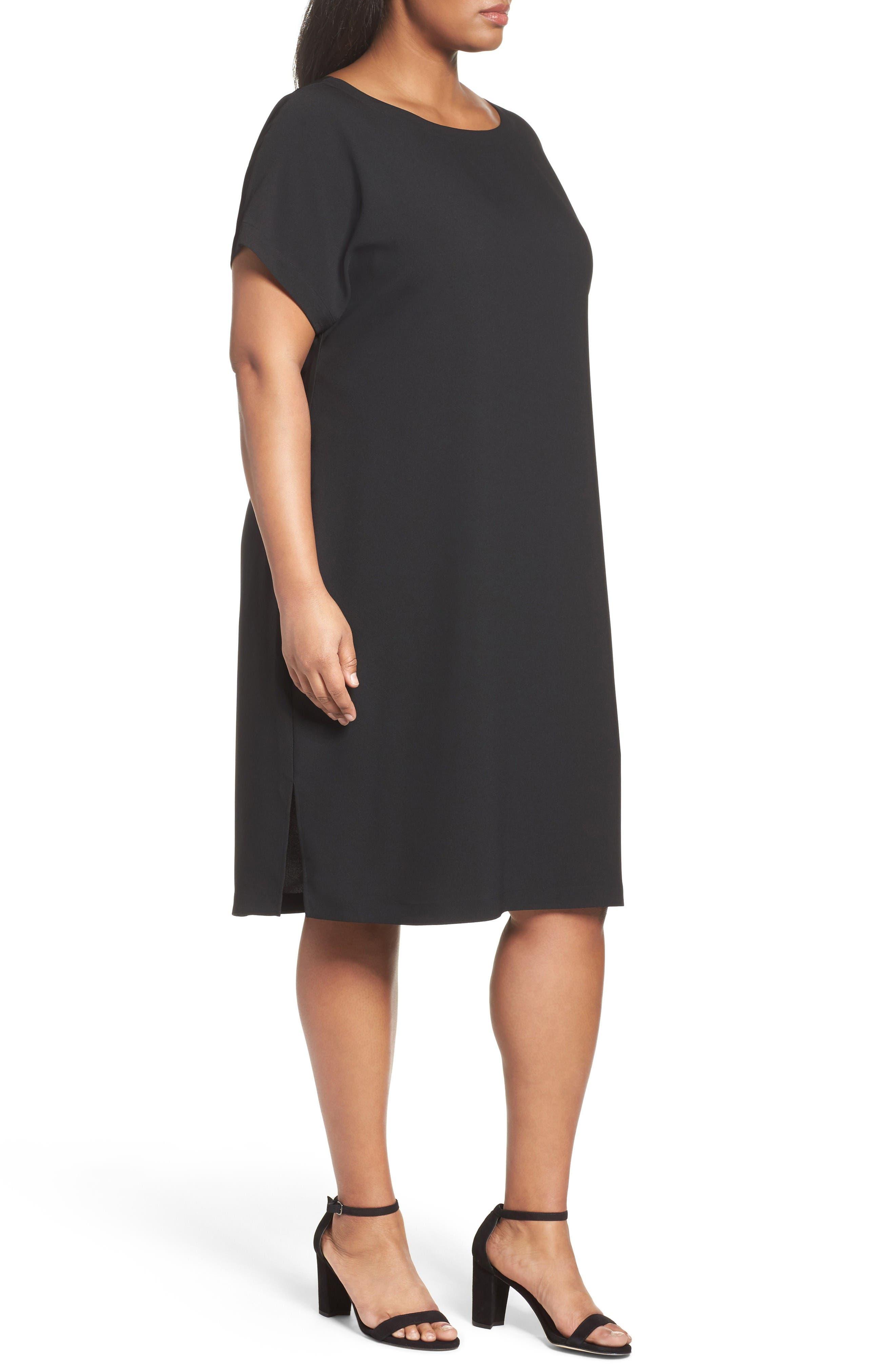 Alternate Image 3  - Sejour Keyhole Back Shift Dress (Plus Size)