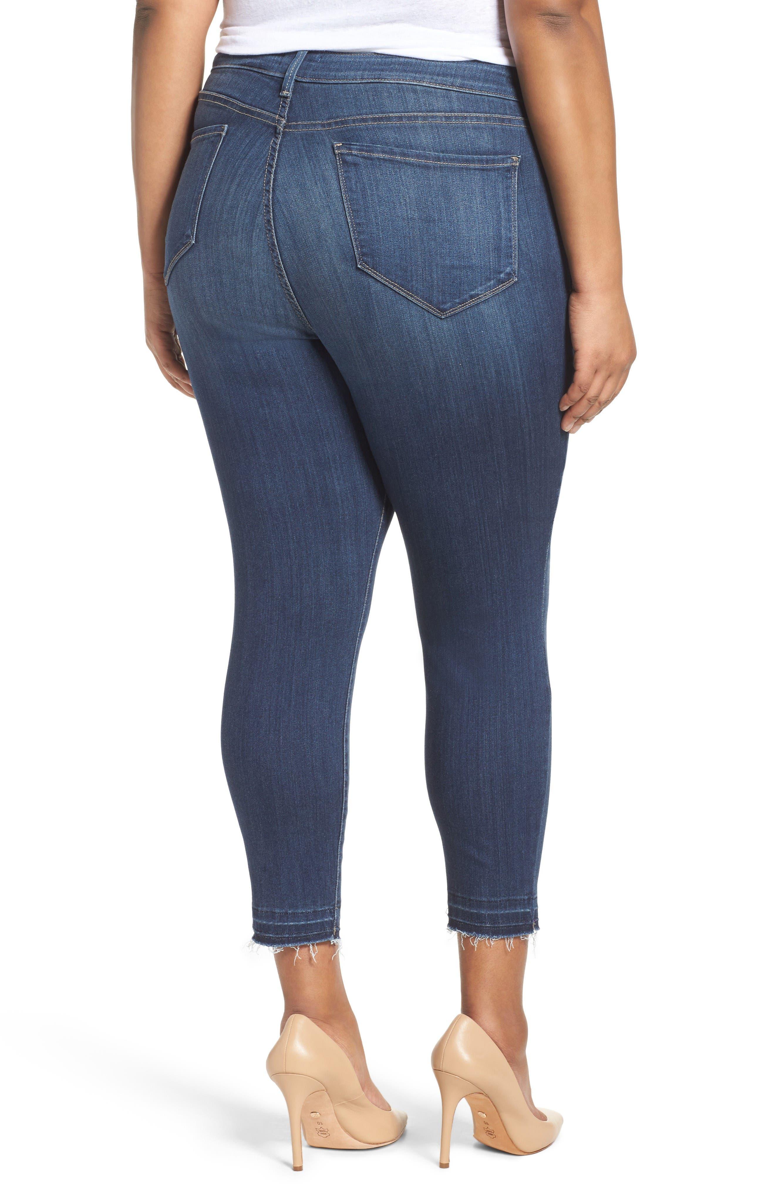 Alternate Image 2  - NYDJ Ami Release Hem Stretch Skinny Jeans (Plus Size)