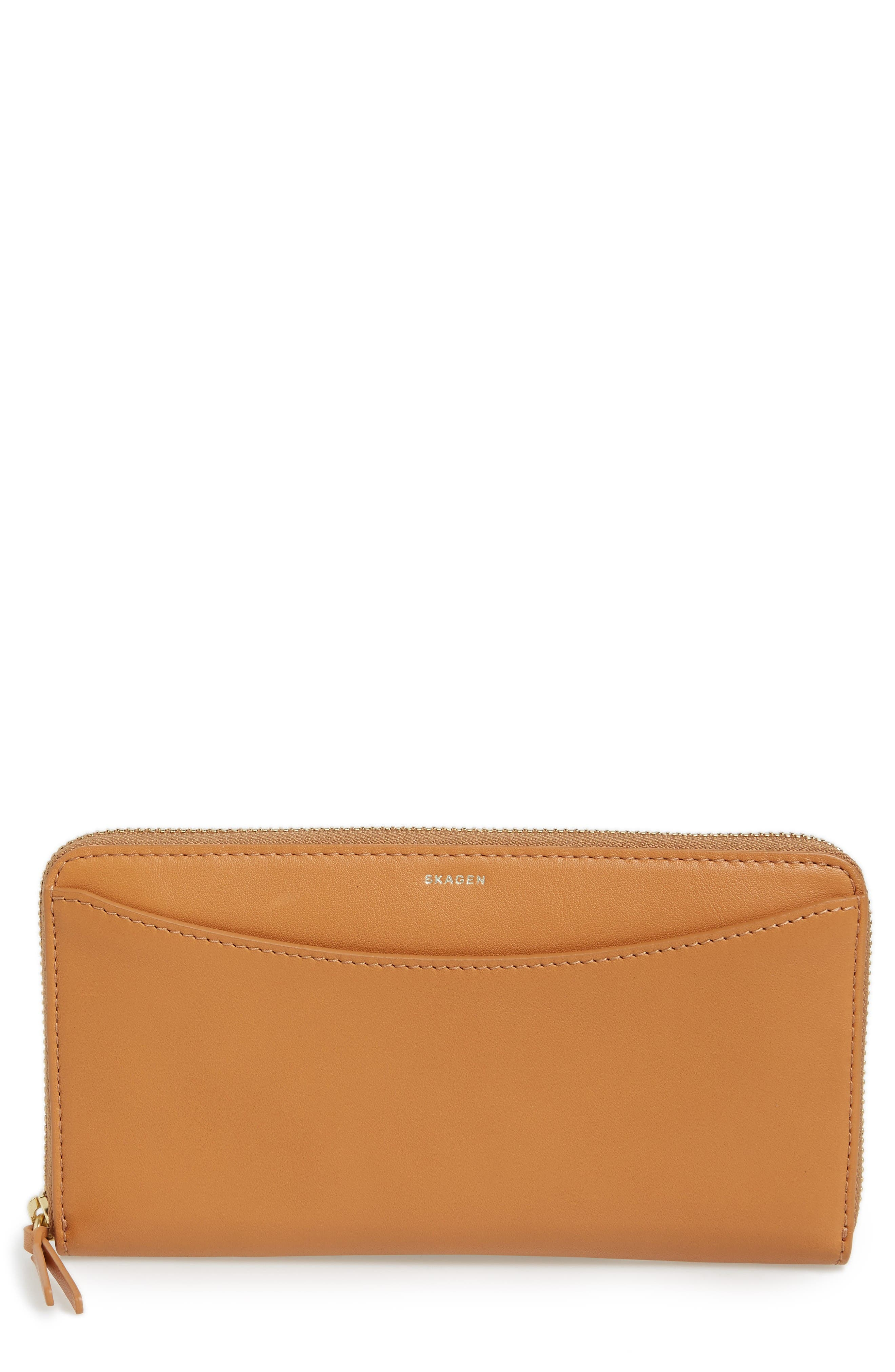 Main Image - Skagen Leather Continental Wallet