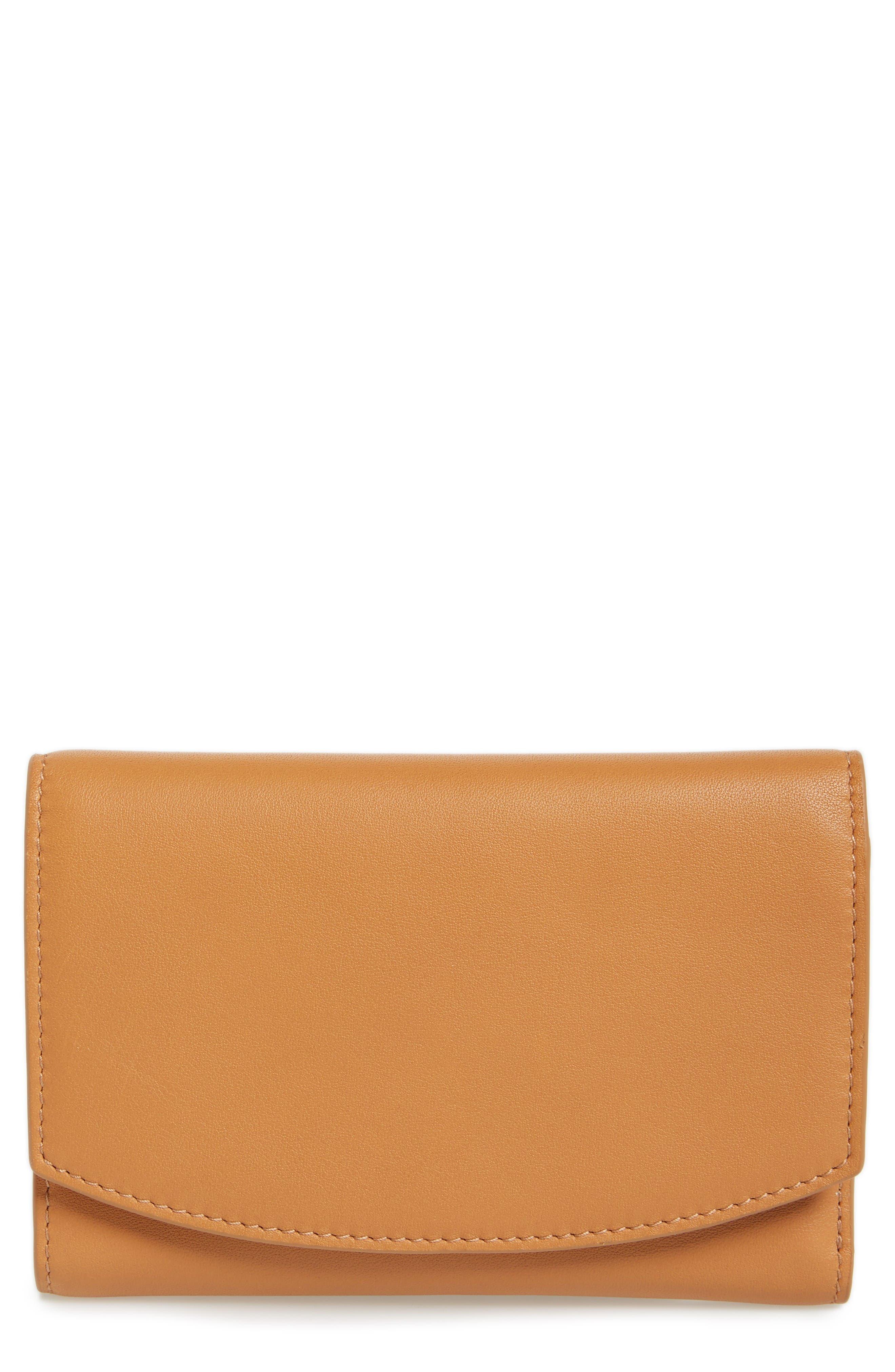 Skagen Compact Leather Flap Wallet