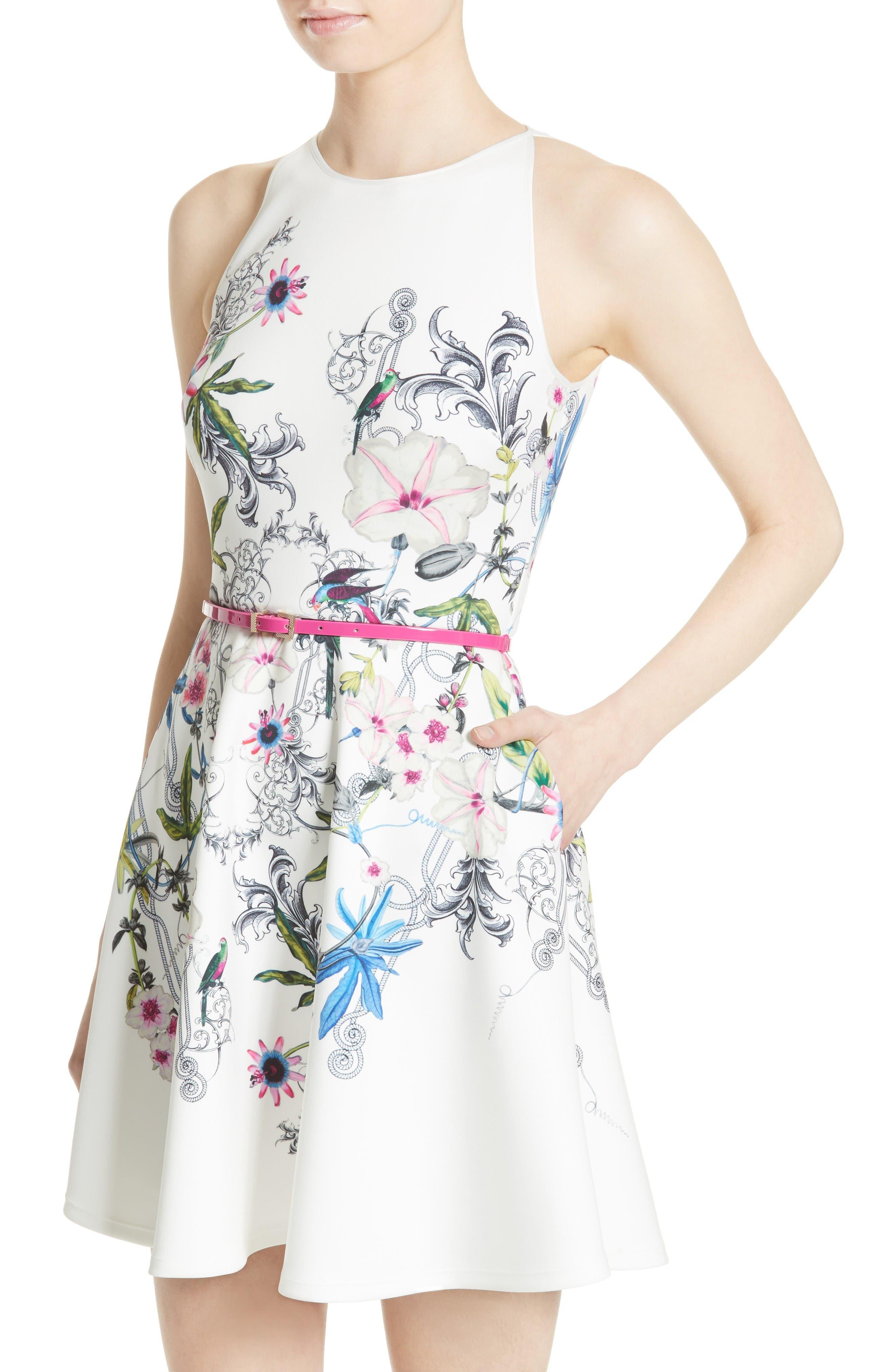 Alternate Image 4  - Ted Baker London Samm Floral Fit & Flare Dress