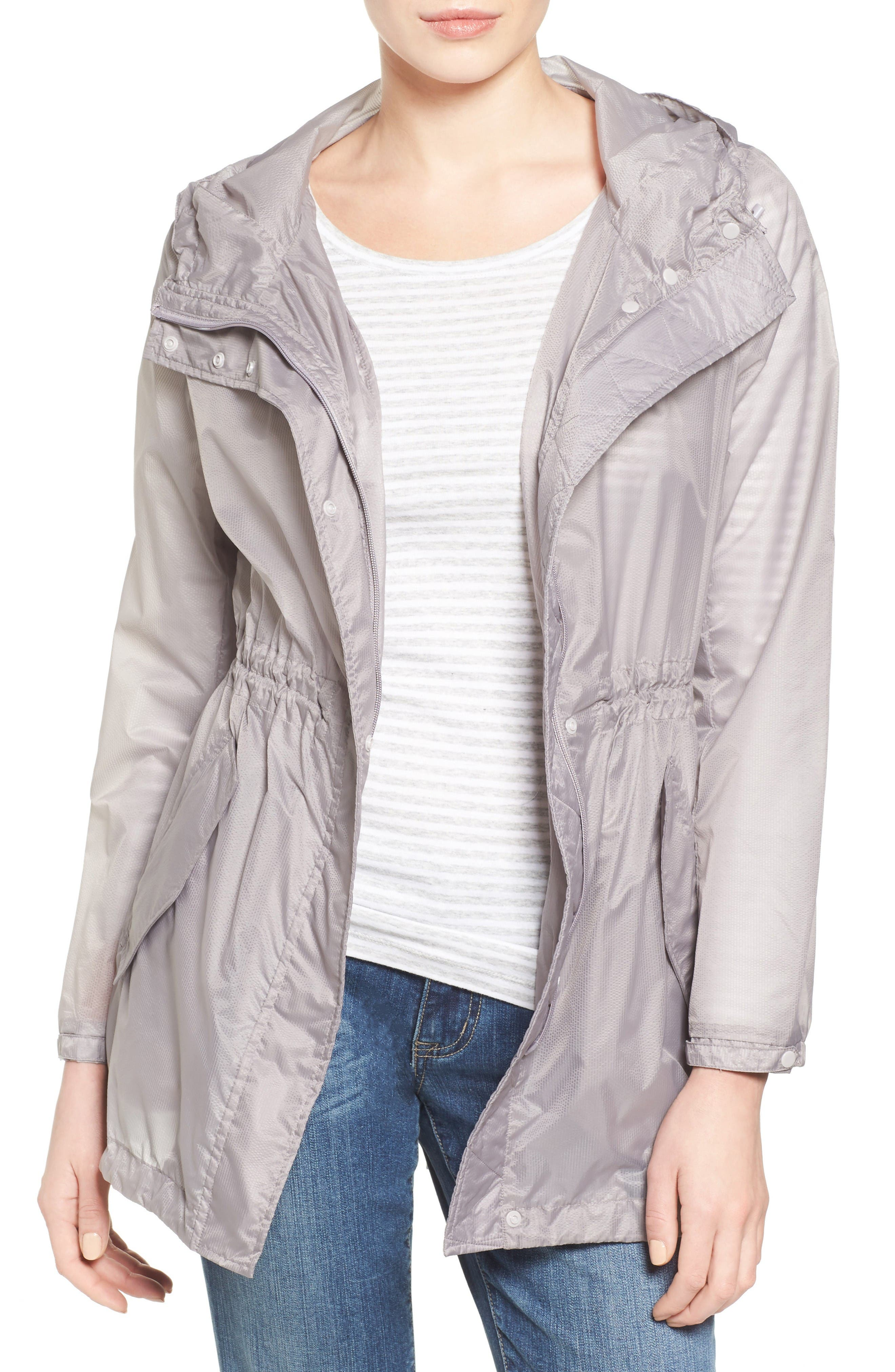 Teri Translucent Rain Jacket,                             Main thumbnail 1, color,                             Fog