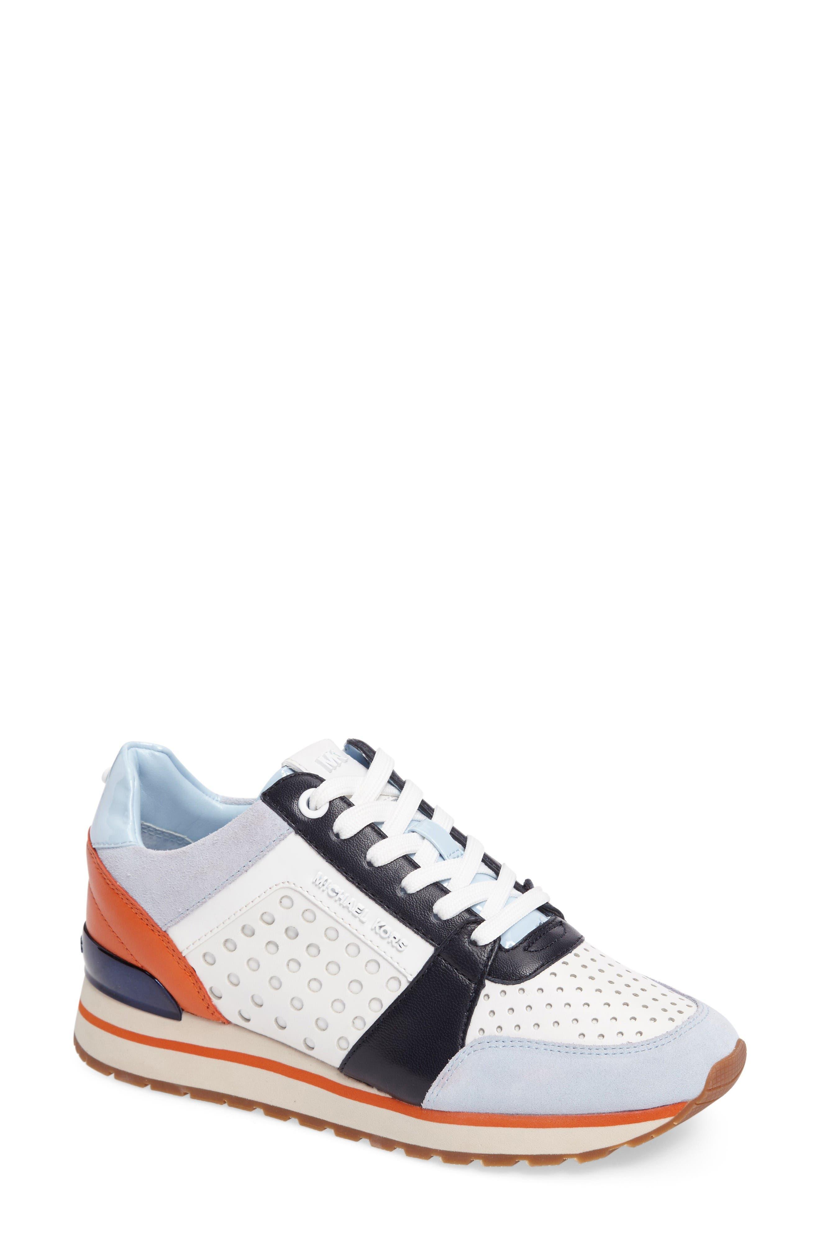 Alternate Image 1 Selected - MICHAEL Michael Kors Billie Perforated Sneaker (Women)