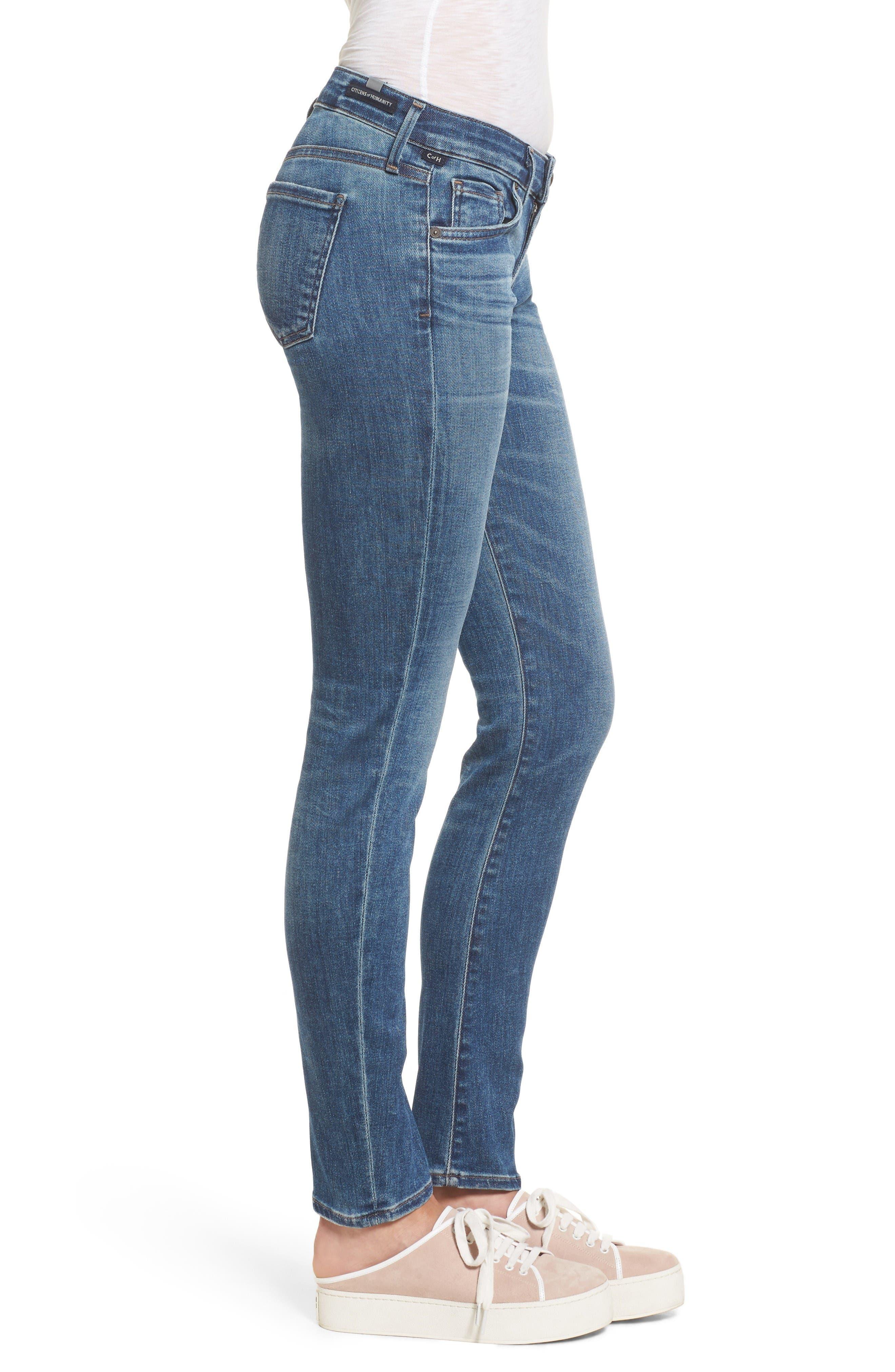 Alternate Image 3  - Citizens of Humanity Racer Skinny Jeans (Voodoo)