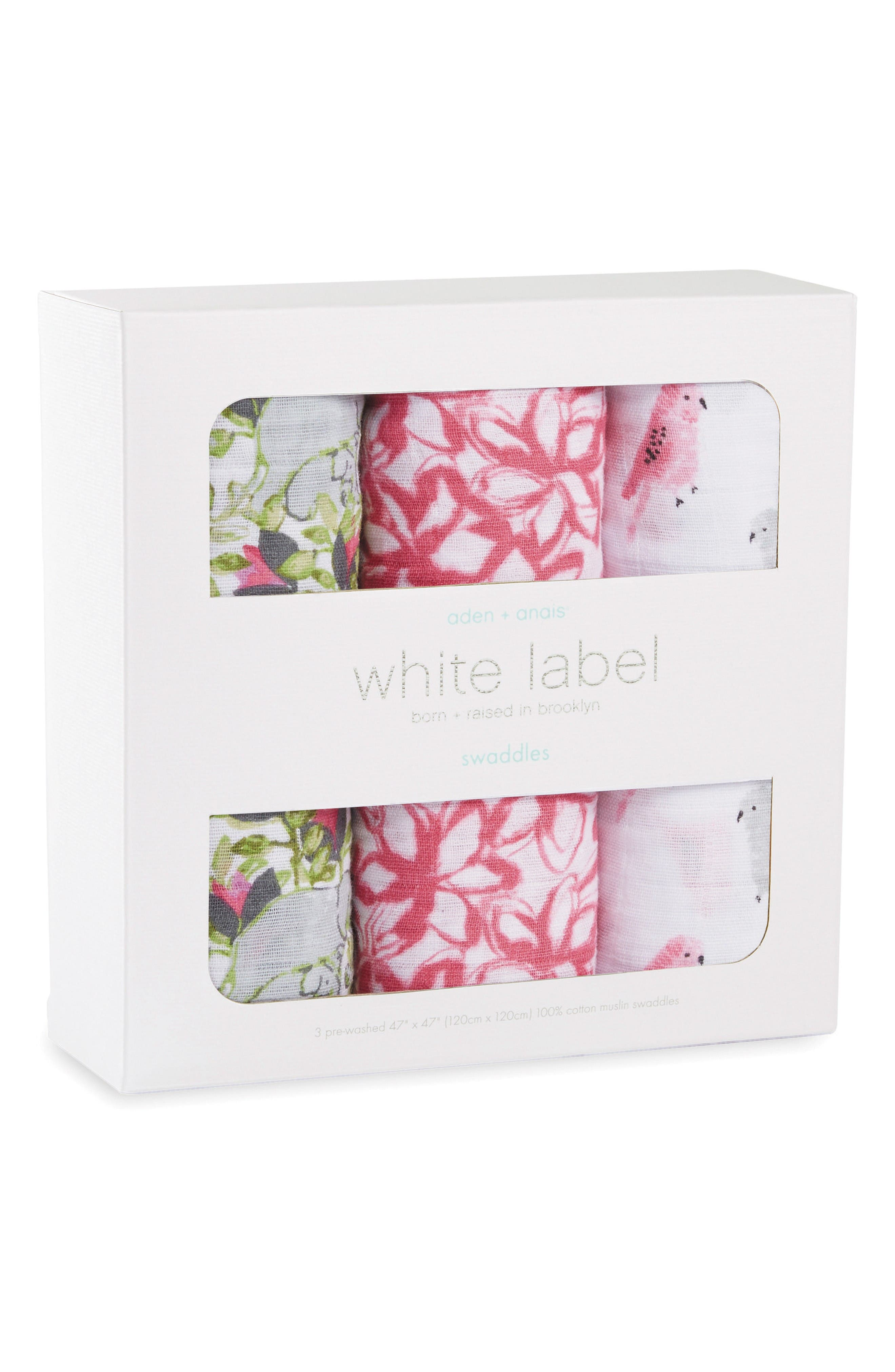 3-Pack Classic Swaddling Cloths,                             Alternate thumbnail 2, color,                             Paradise