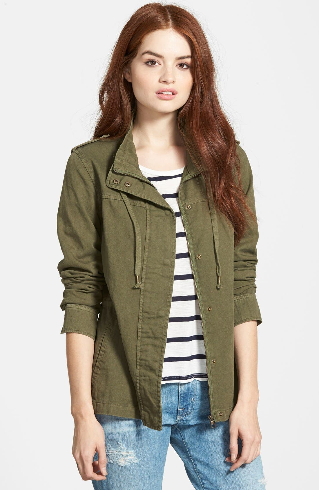 Alternate Image 1 Selected - Velvet Heritage Military Canvas Jacket