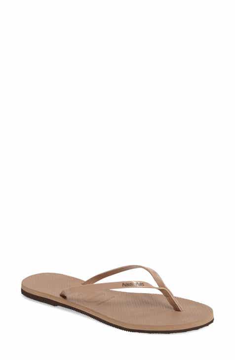 152063e63434 Beige Flip-Flops   Sandals for Women