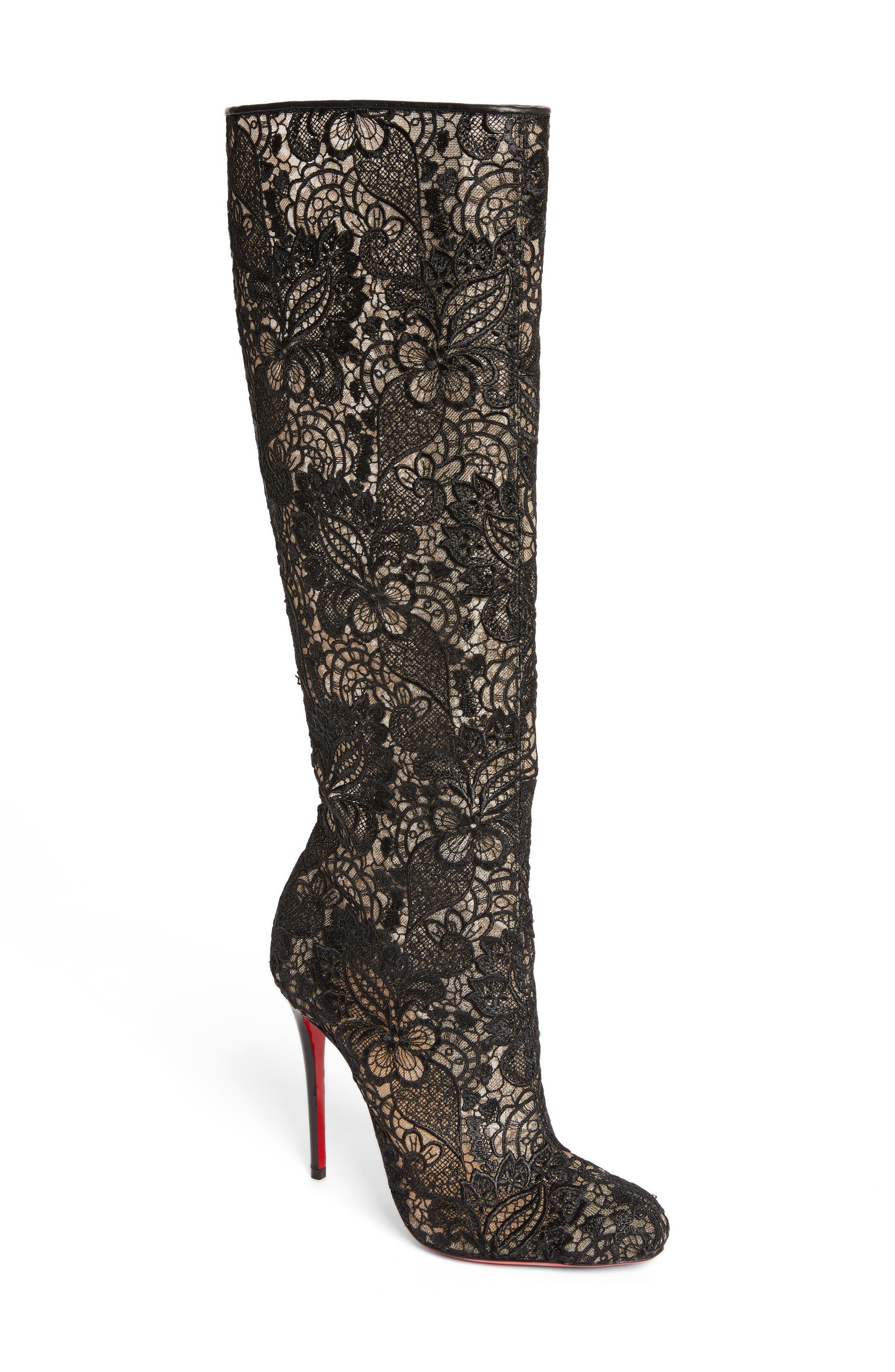 christian louboutin high heels boots