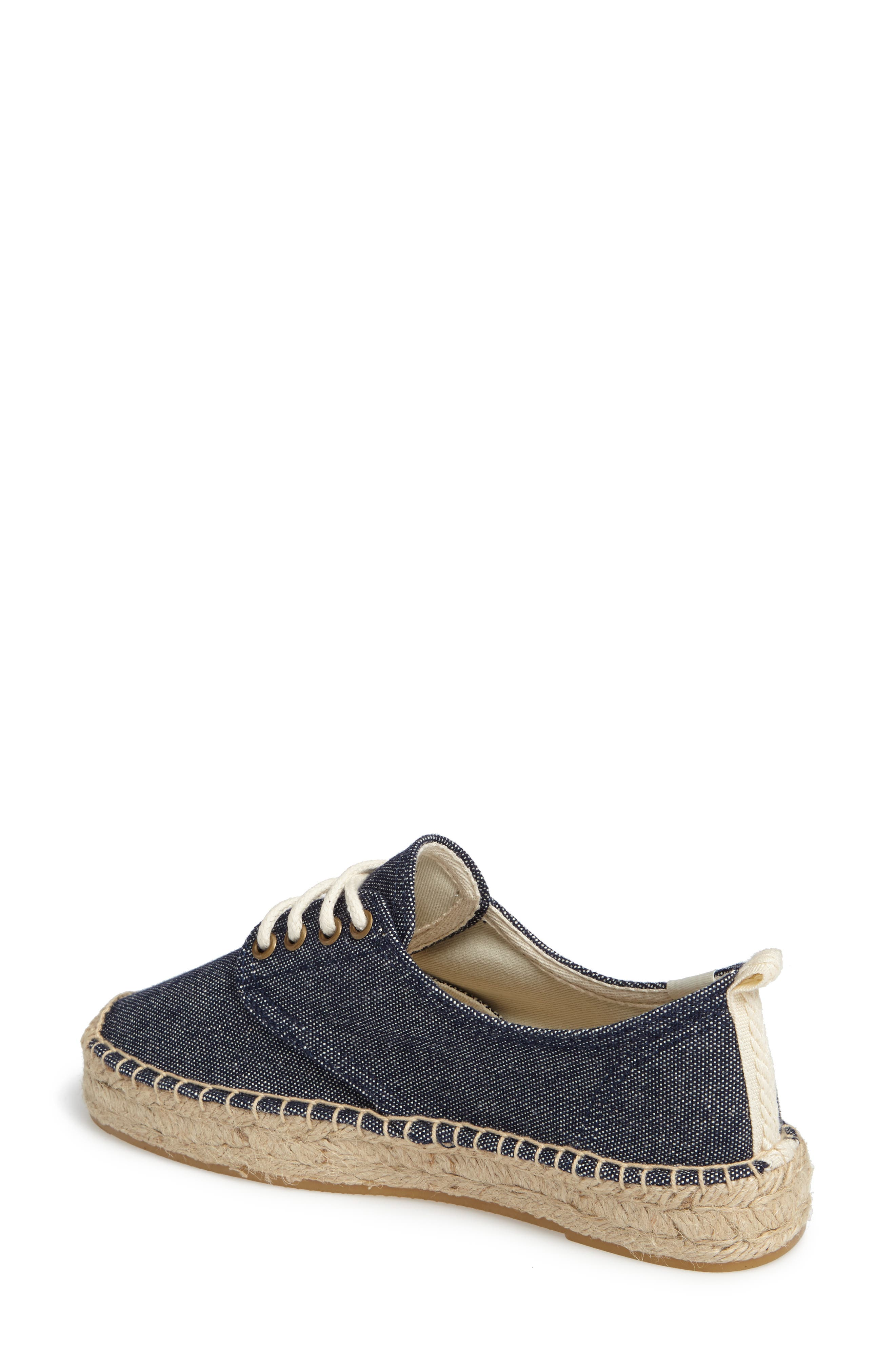 Espadrille Oxford,                             Alternate thumbnail 2, color,                             Navy Canvas