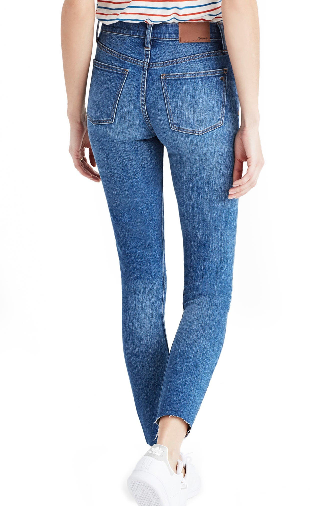 Alternate Image 2  - Madewell 9-Inch High-Rise Skinny Crop Jeans (Bruce Wash)
