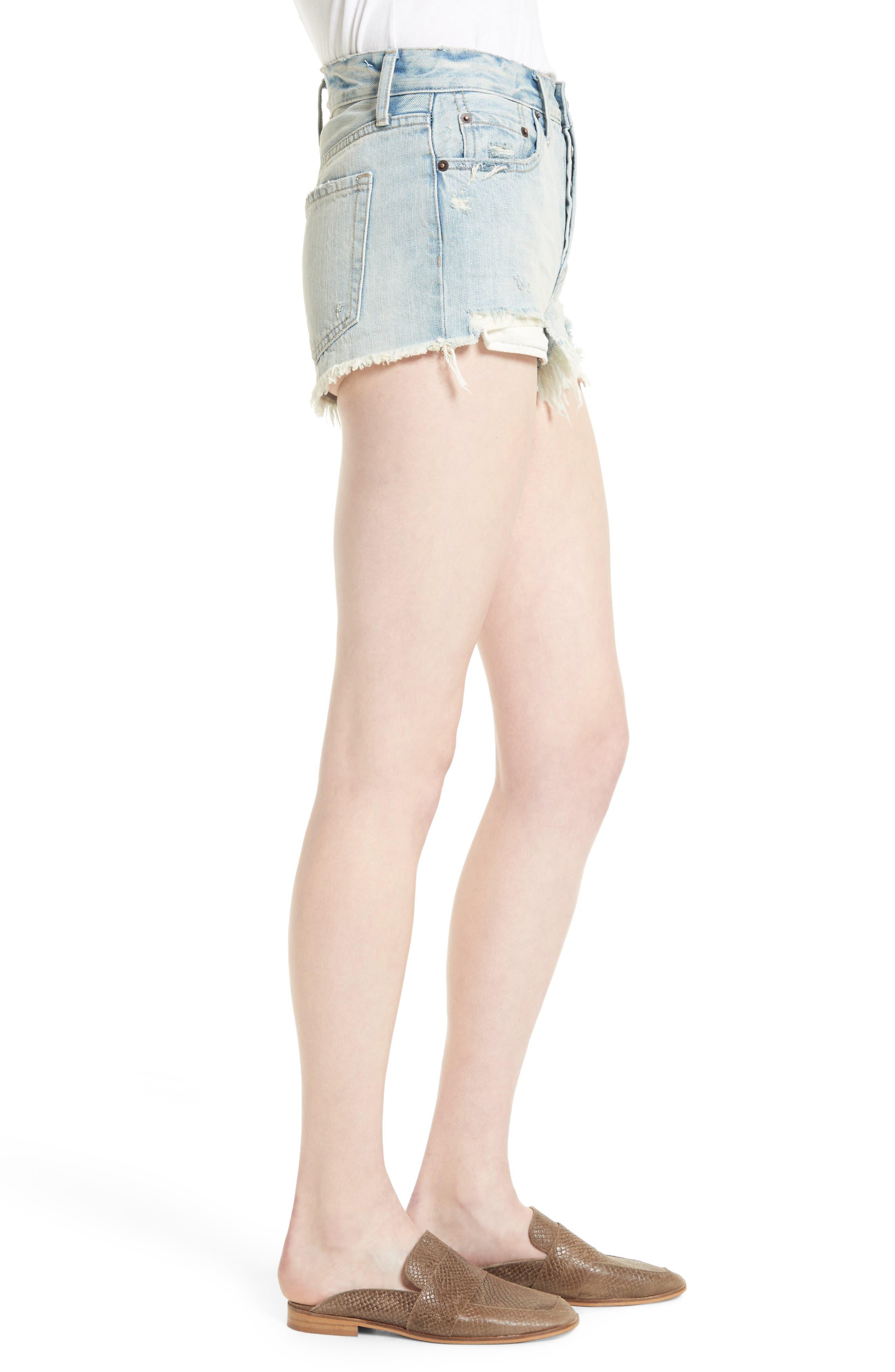 Alternate Image 4  - Free People Daisy Chain Cutoff Denim Shorts