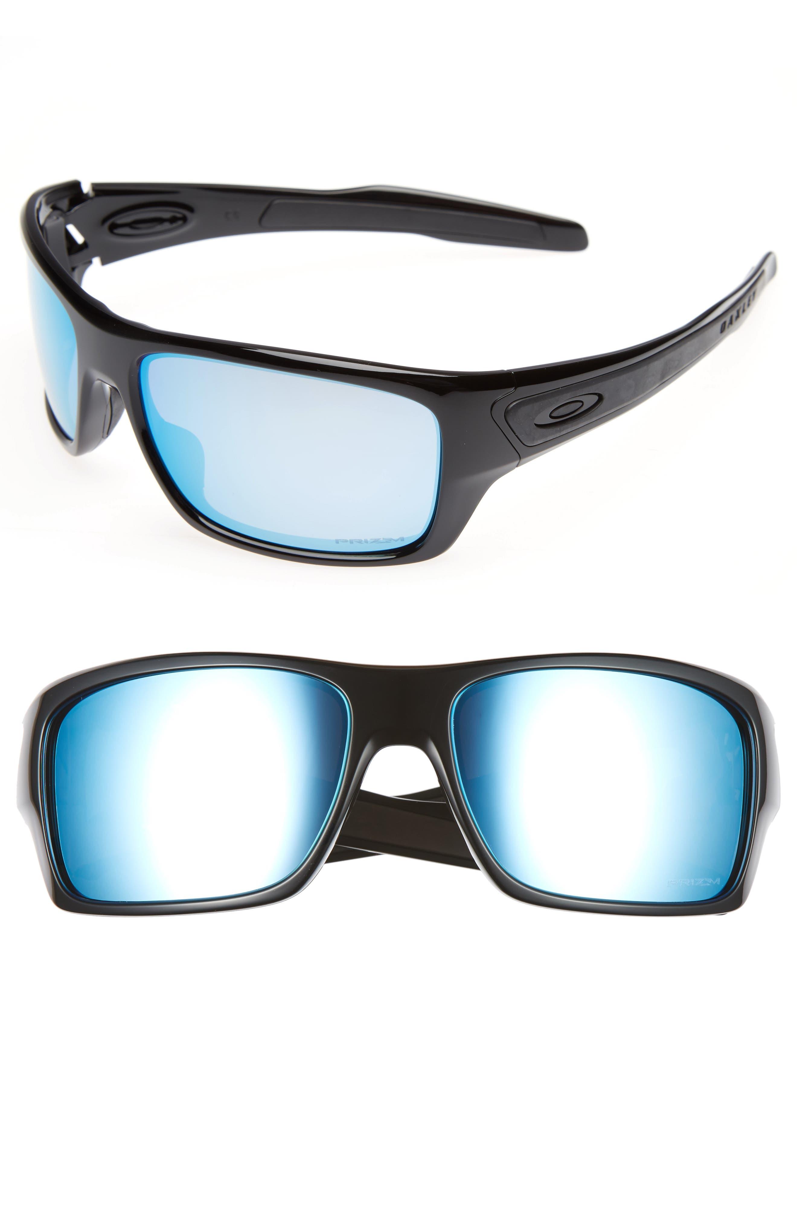 Turbine H2O 65mm Polarized Sunglasses,                             Main thumbnail 1, color,                             Black/Blue