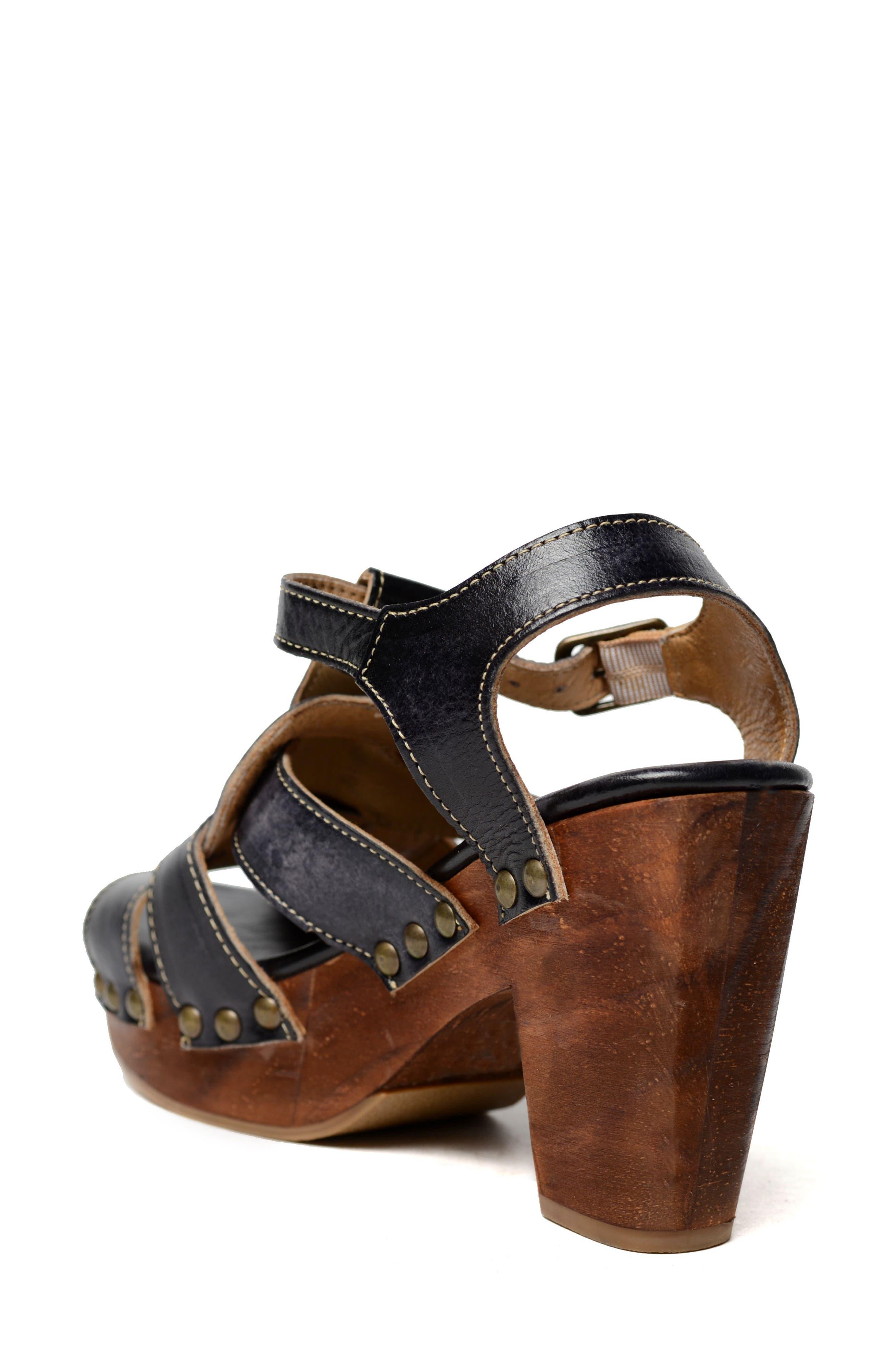 Caitlin Block Heel Sandal,                             Alternate thumbnail 2, color,                             Black Driftwood Leather