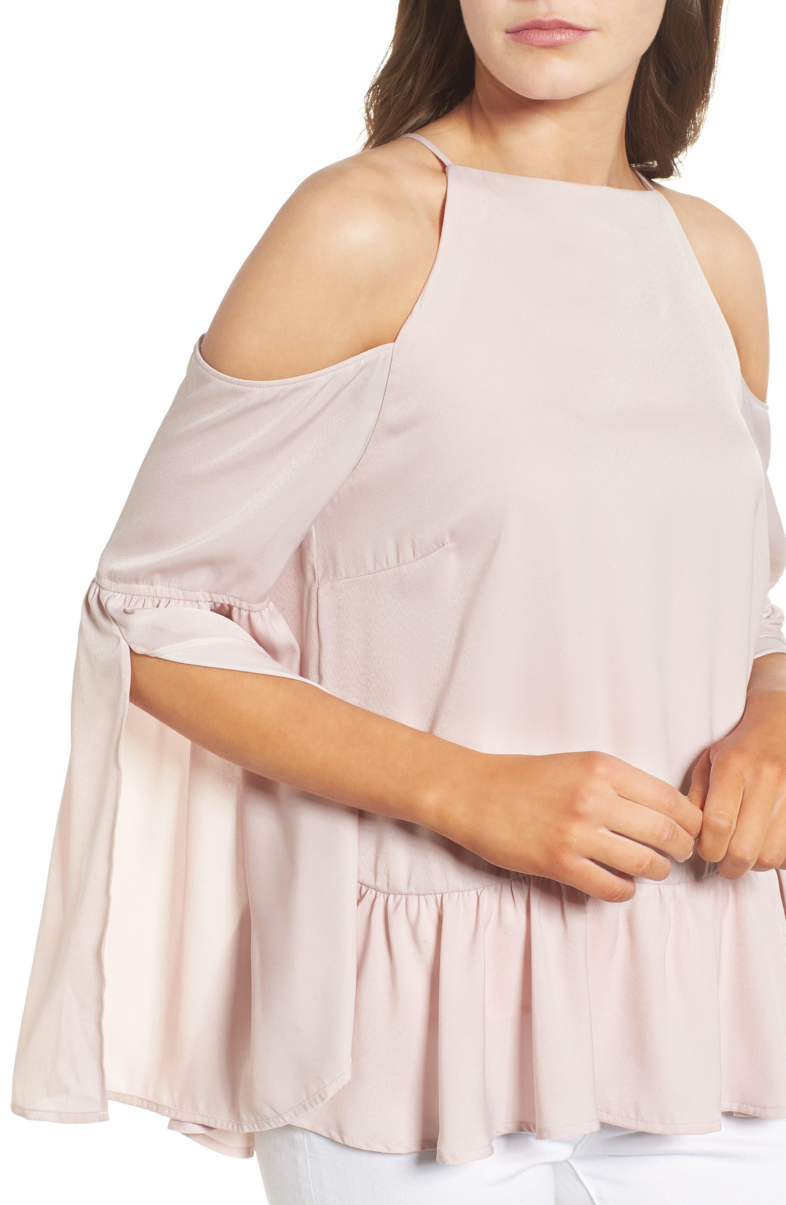Alternate Image 4  - Chelsea28 Bell Sleeve Cold Shoulder Top
