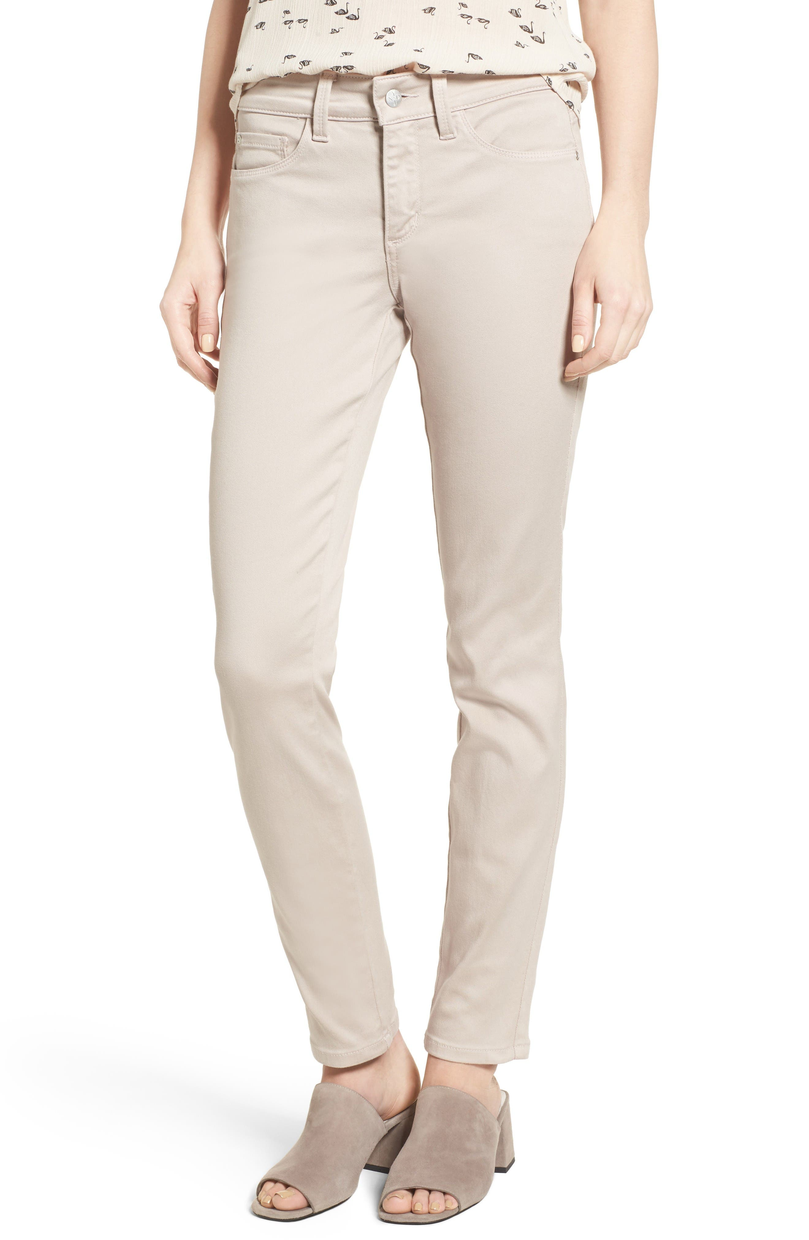 Alina Colored Stretch Skinny Jeans,                             Main thumbnail 1, color,                             Rose Mist