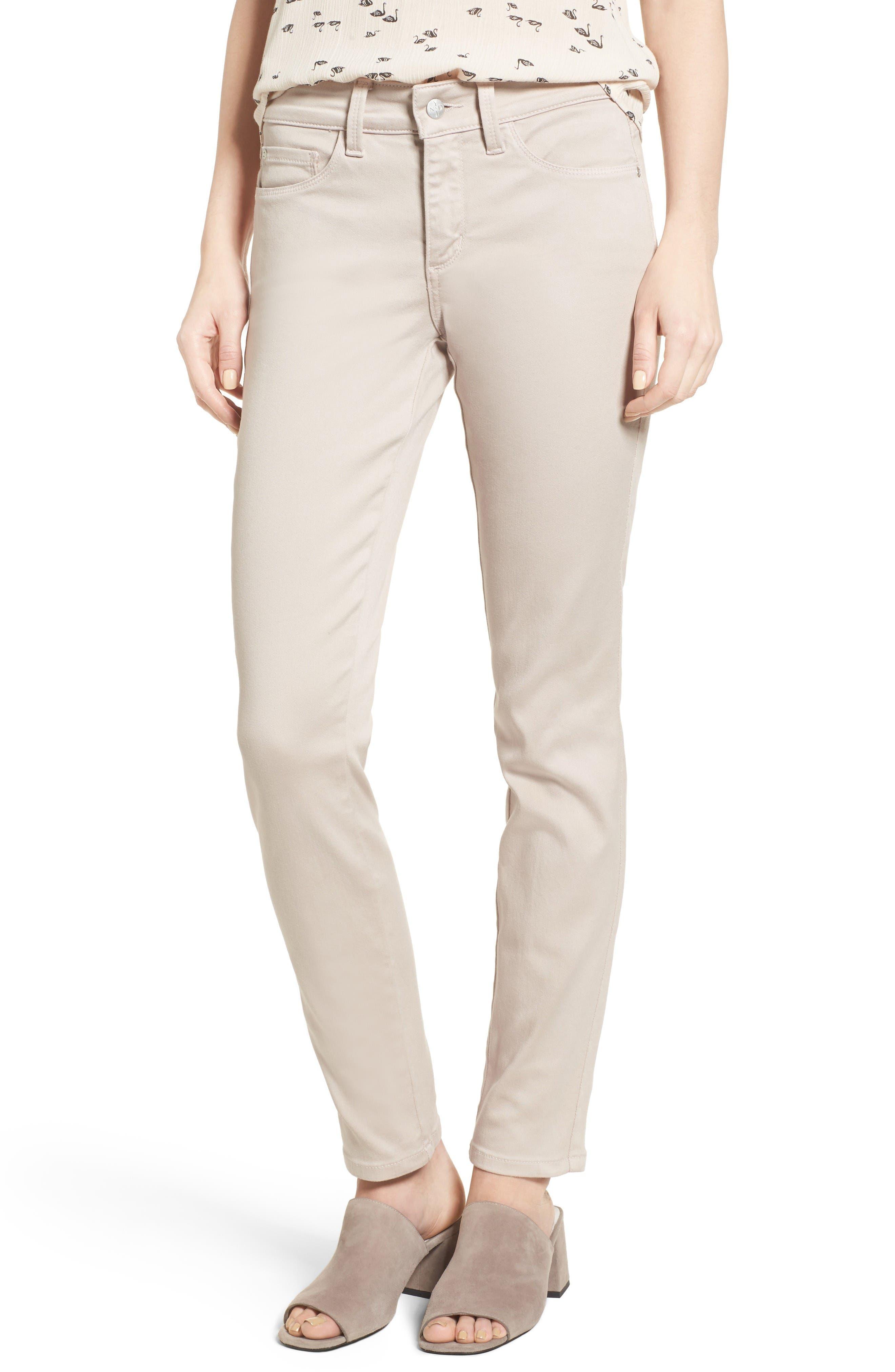 Alternate Image 1 Selected - NYDJ Alina Colored Stretch Skinny Jeans (Regular & Petite)