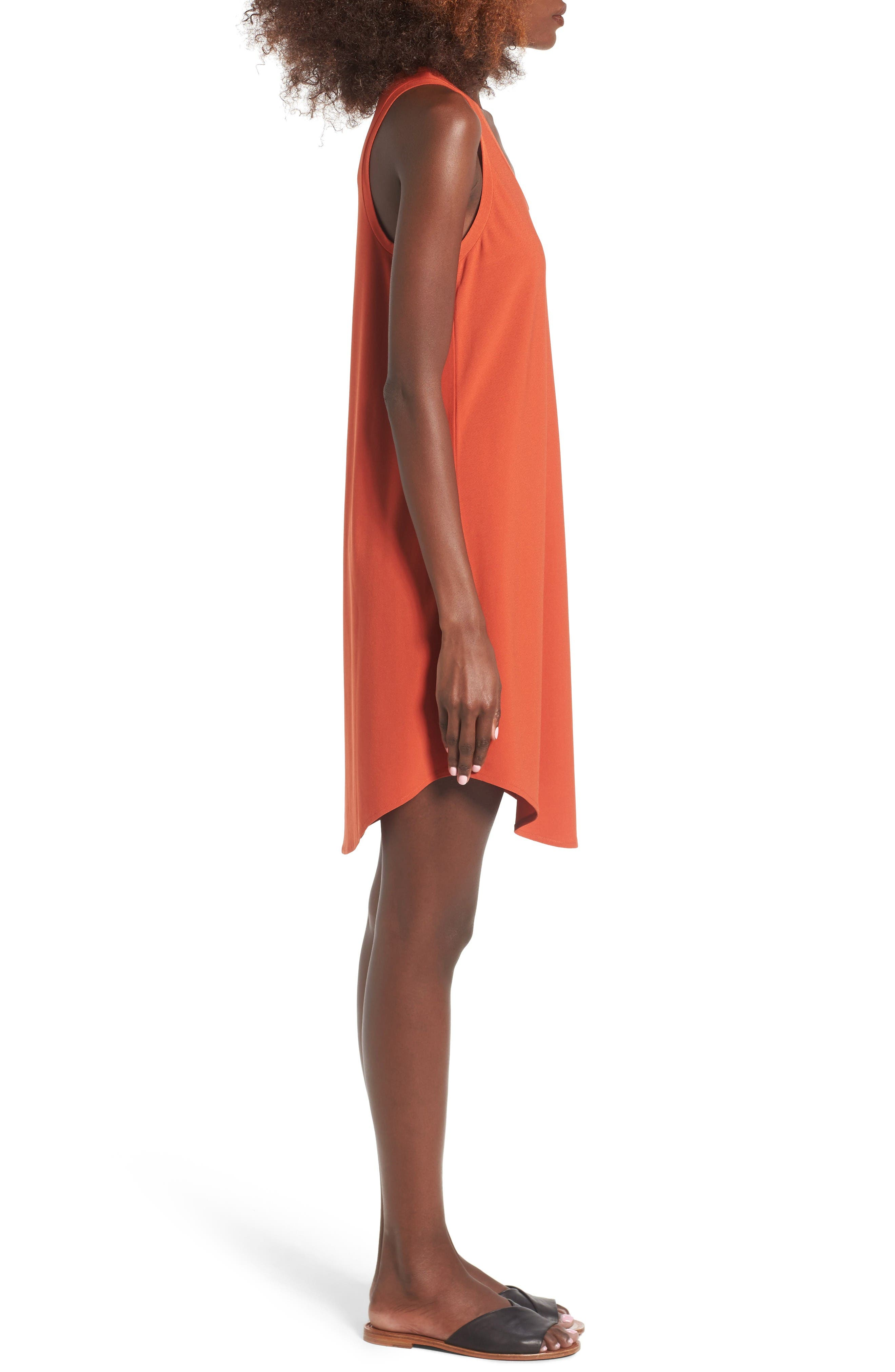 Tank Dress,                             Alternate thumbnail 3, color,                             Red Persimmon