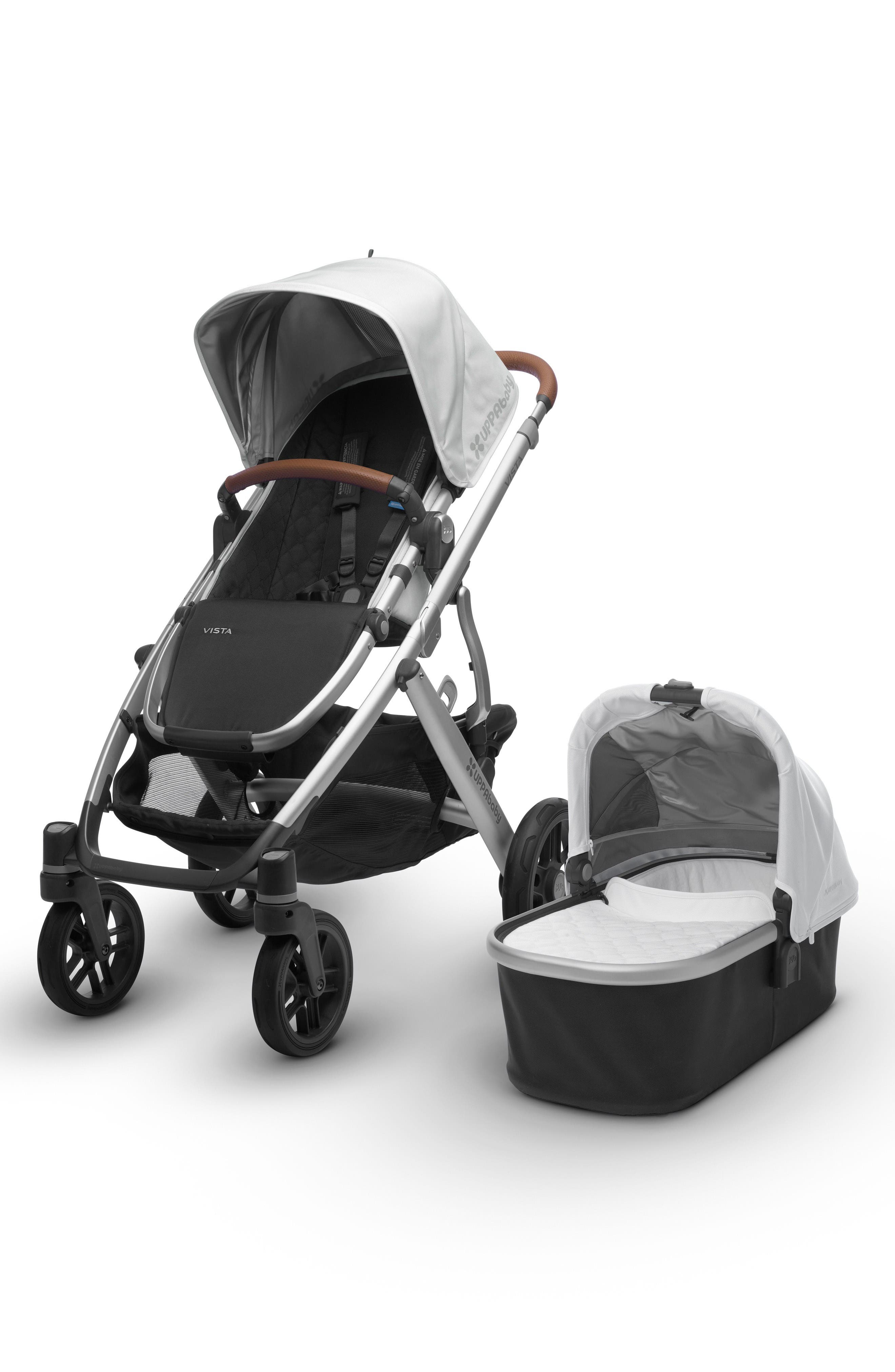 UPPAbaby 2017 VISTA Aluminum Frame Convertible Stroller with Bassinet & Toddler Seat