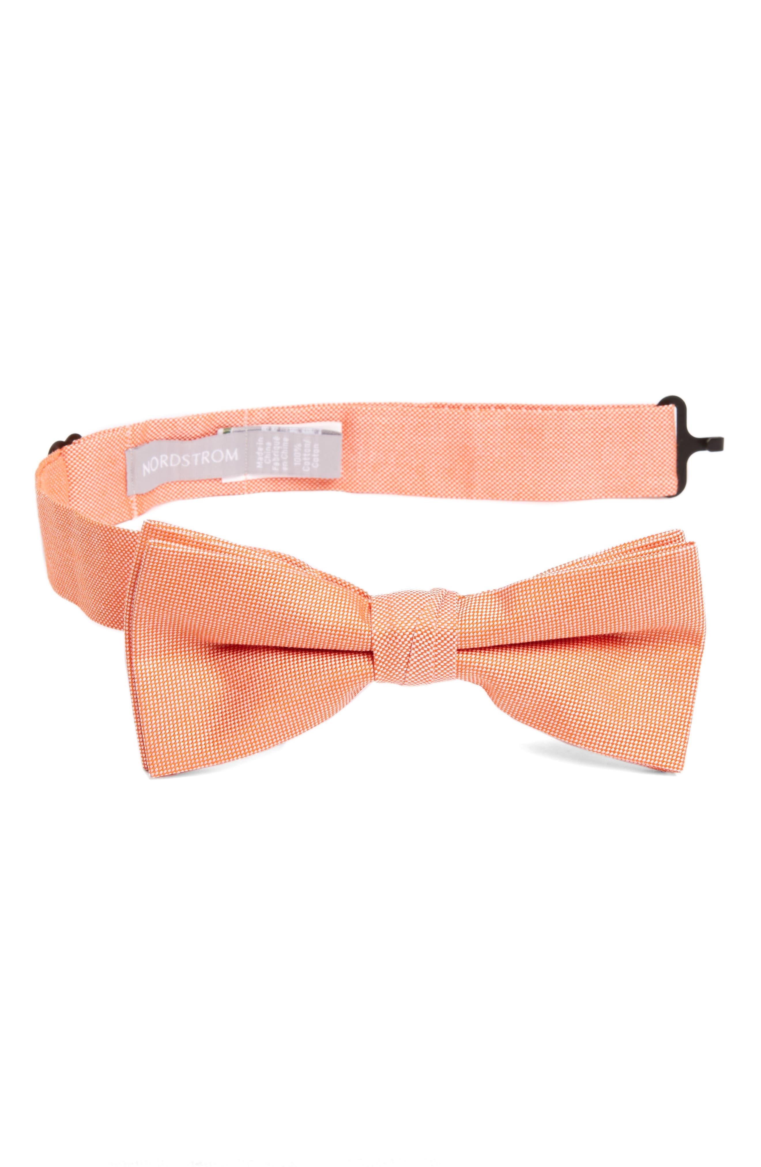 Nordstrom Check Cotton Bow Tie (Big Boys)