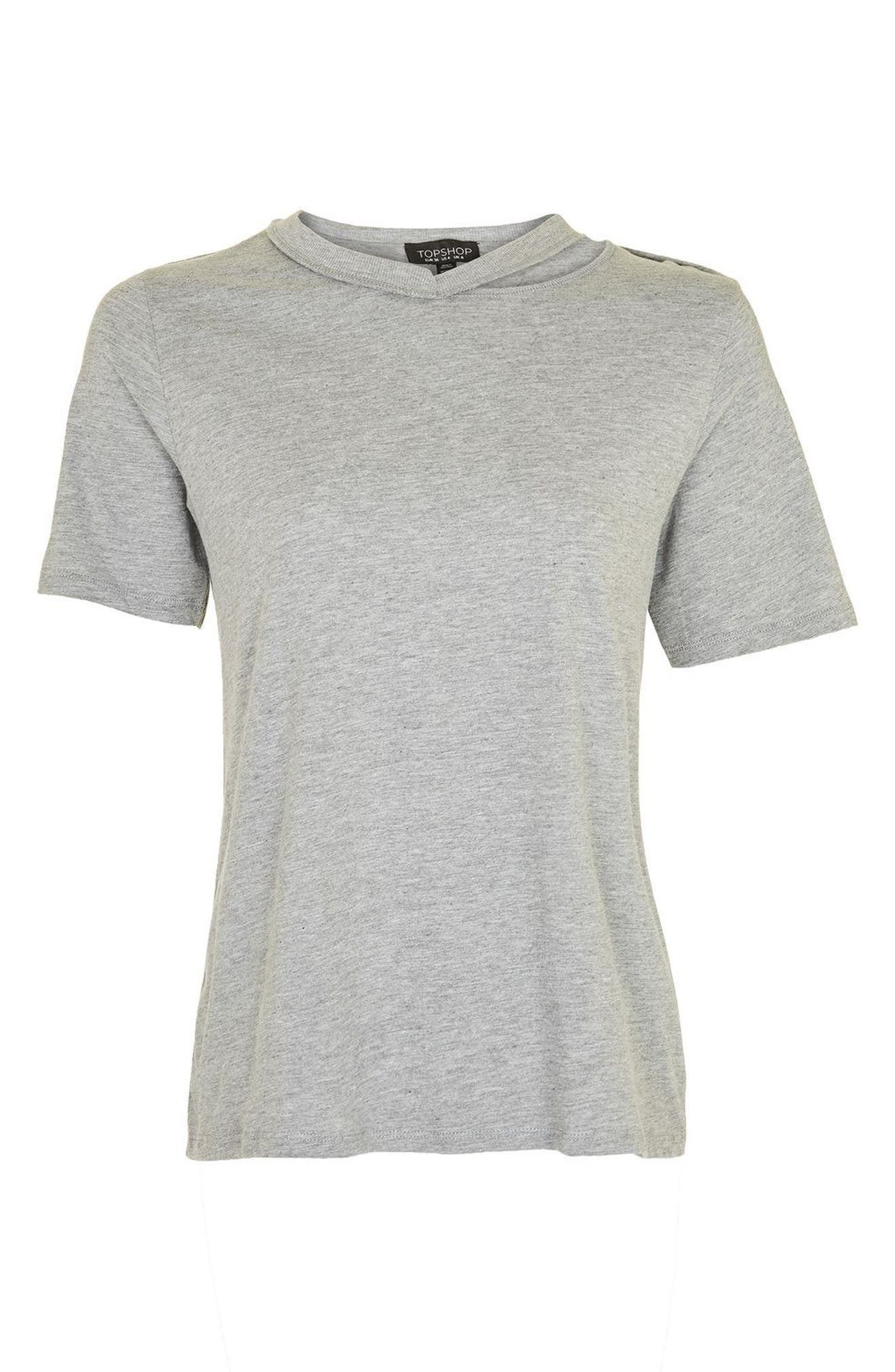 Alternate Image 5  - Topshop Slash Choker Boxy Tee