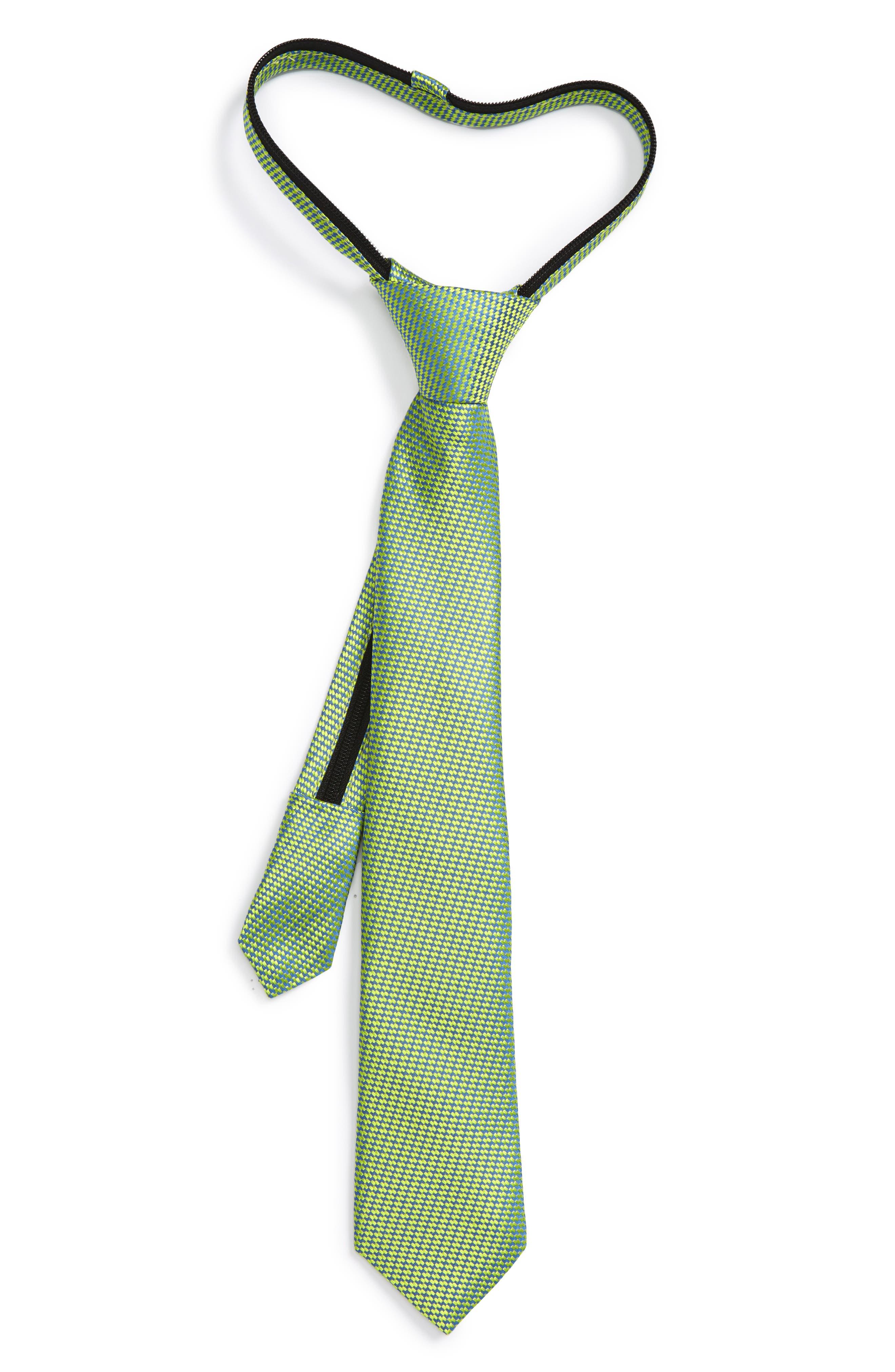 NORDSTROM Textured Silk Zipper Tie