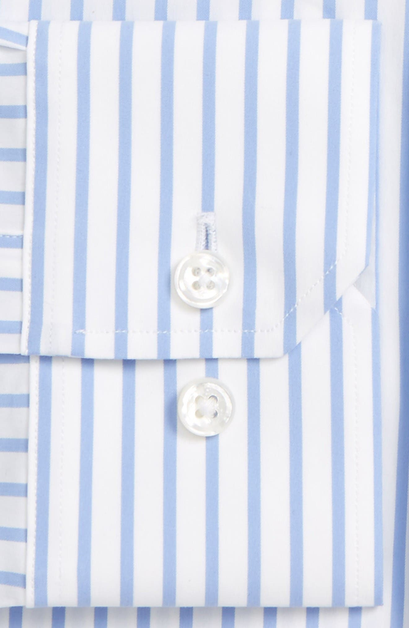 Jetstter Slim Fit Stripe Stretch Dress Shirt,                             Alternate thumbnail 2, color,                             Blue Open Stripe