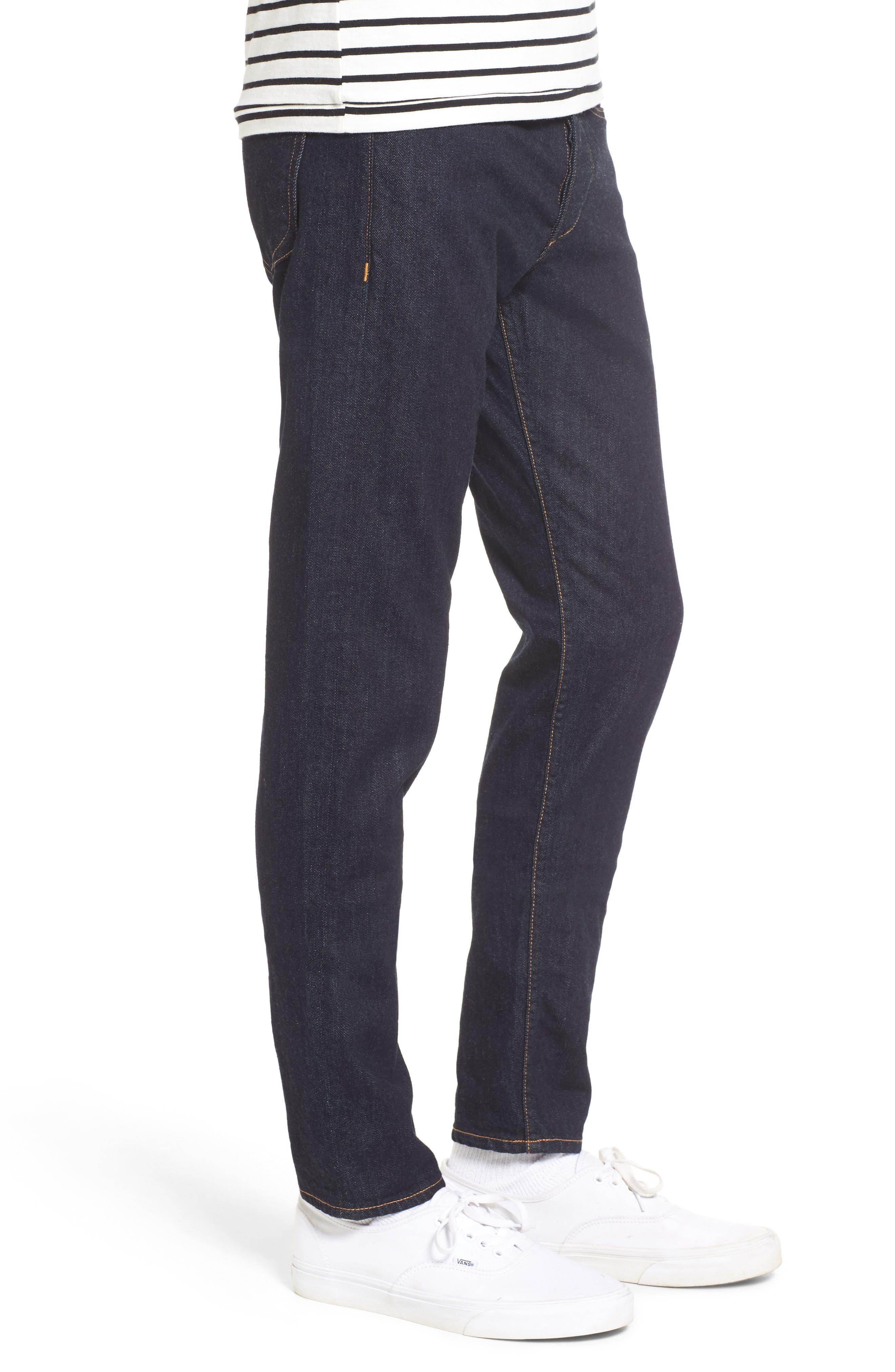 Standard Issue Fit 1 Skinny Fit Jeans,                             Alternate thumbnail 3, color,                             Rinse Selvage