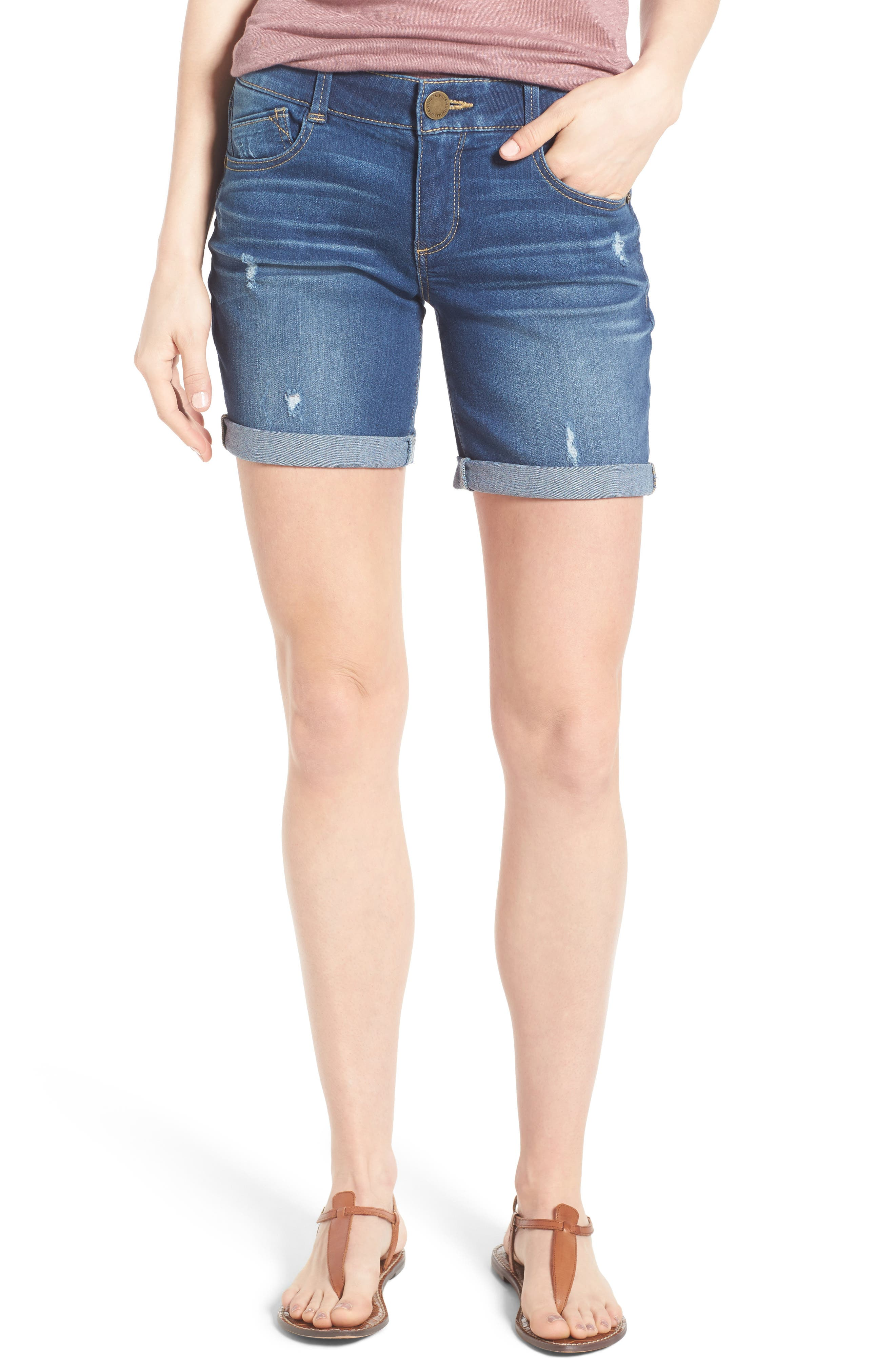 Wit & Wisdom Ab-solution Bermuda Denim Shorts (Regular & Petite) (Nordstrom Exclusive)