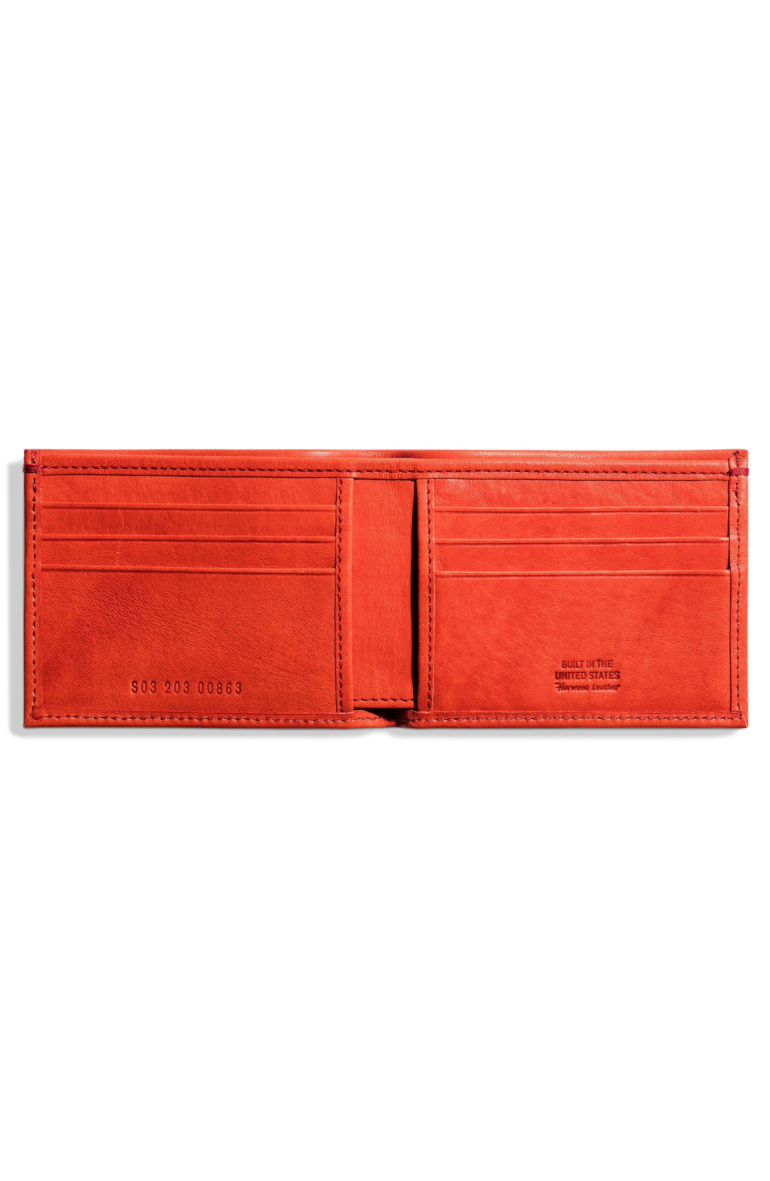 Alternate Image 2  - Shinola Slim Bifold Leather Wallet