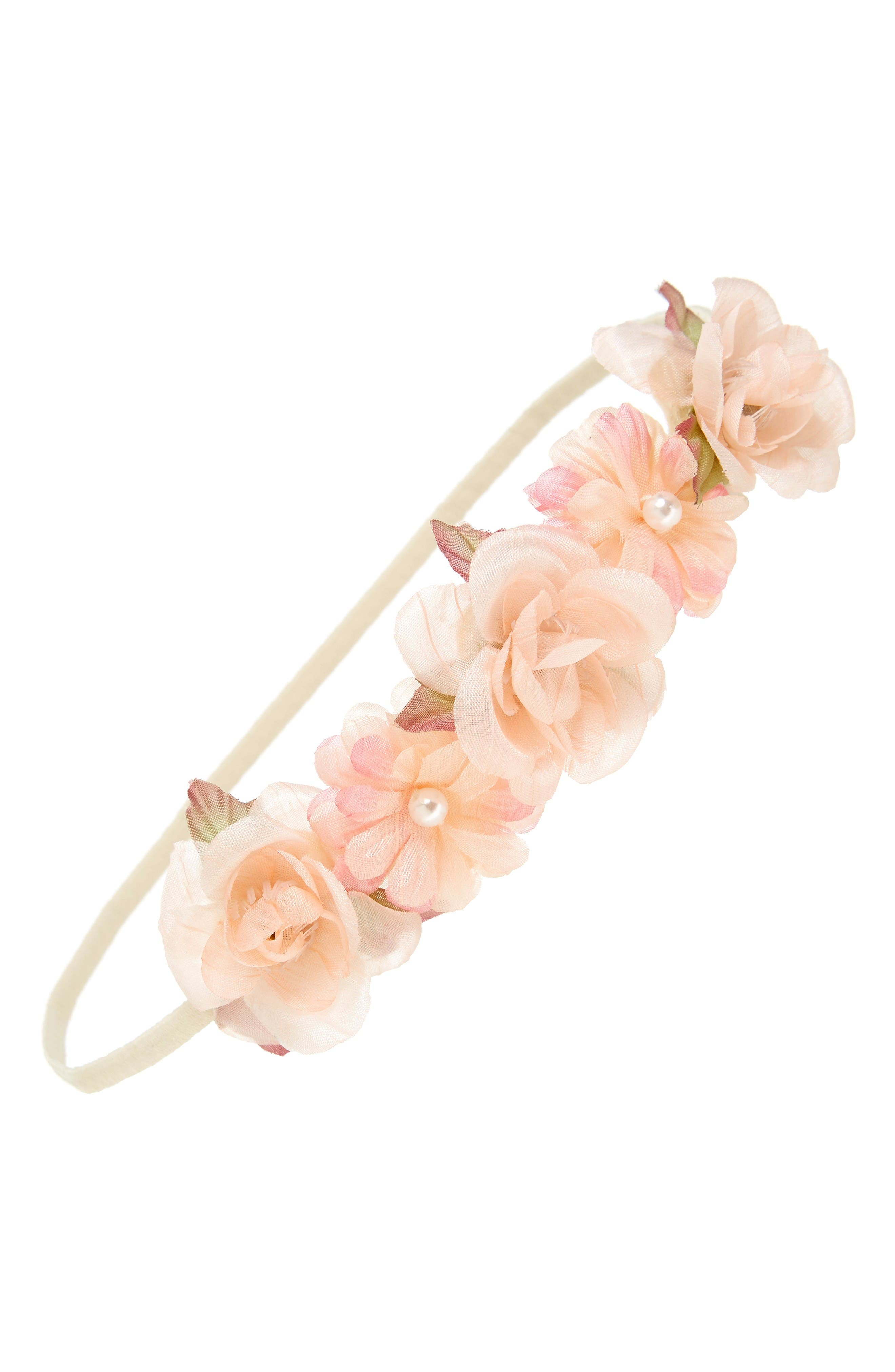 PLH Bows & Laces Floral Headband (Baby Girls & Toddler Girls)