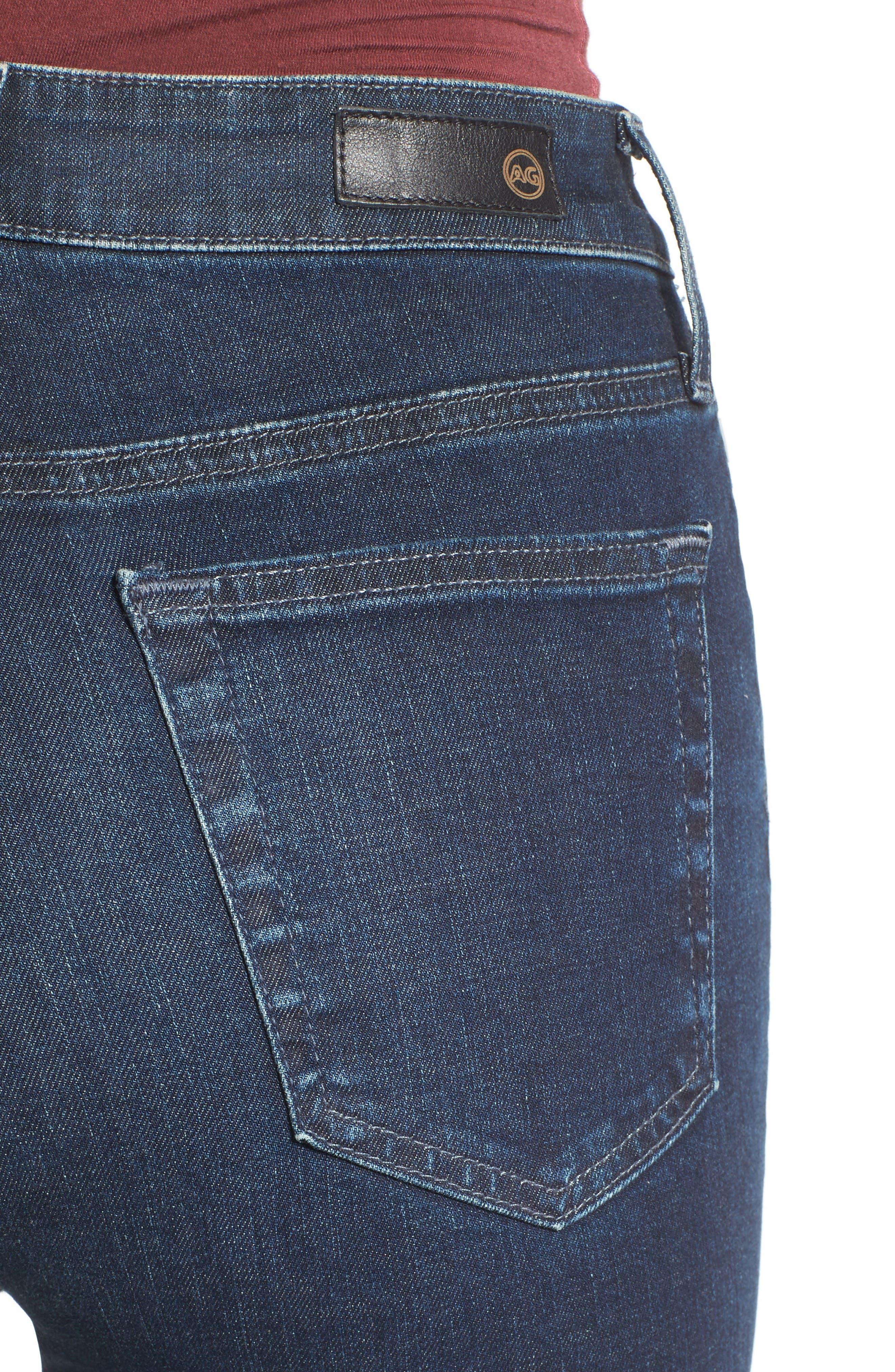 Alternate Image 5  - AG Mila High Rise Skinny Jeans (03Y Rendezvous)