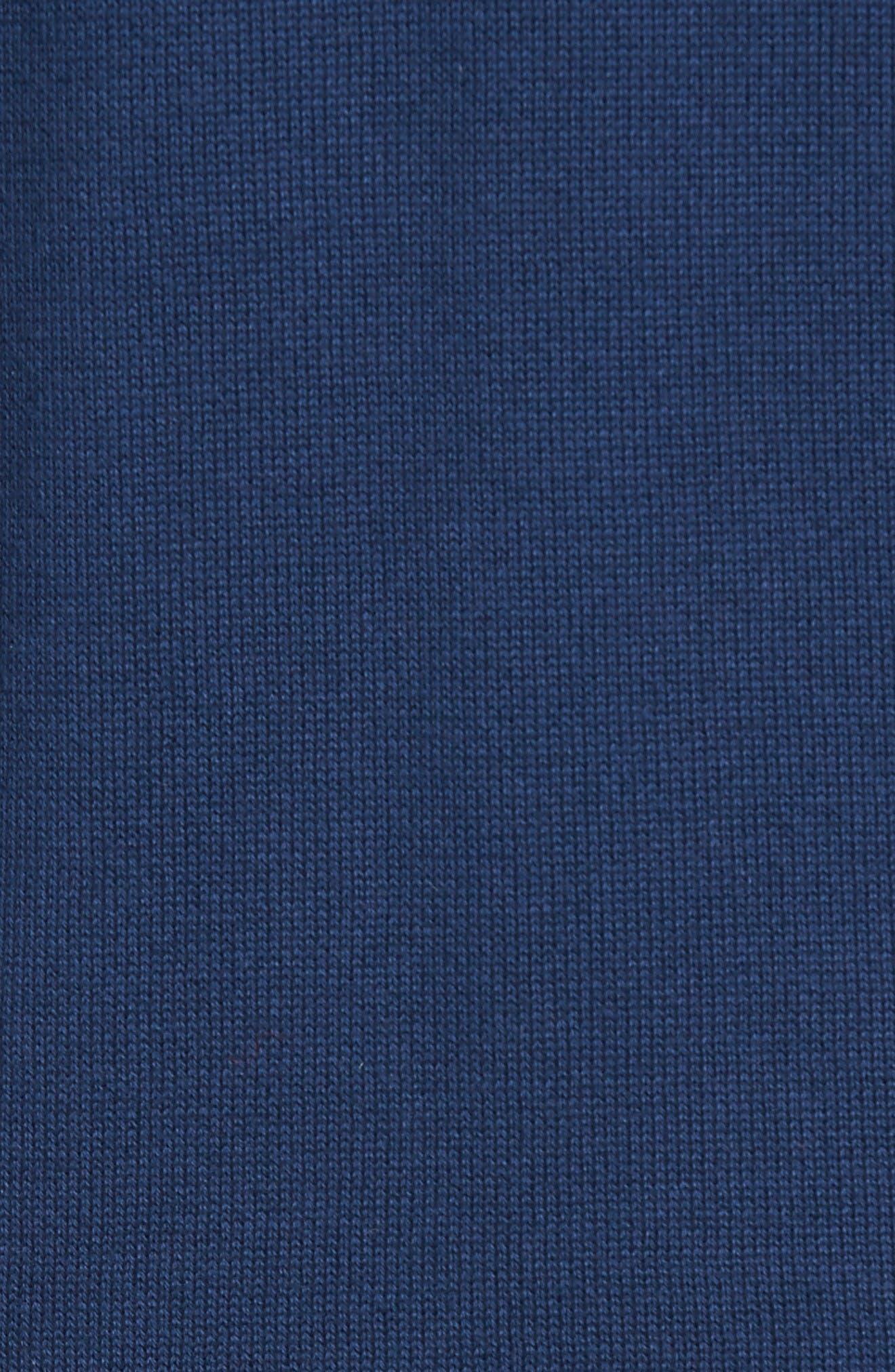 Piqué Jersey V-Neck Sweater,                             Alternate thumbnail 5, color,                             Summer Navy