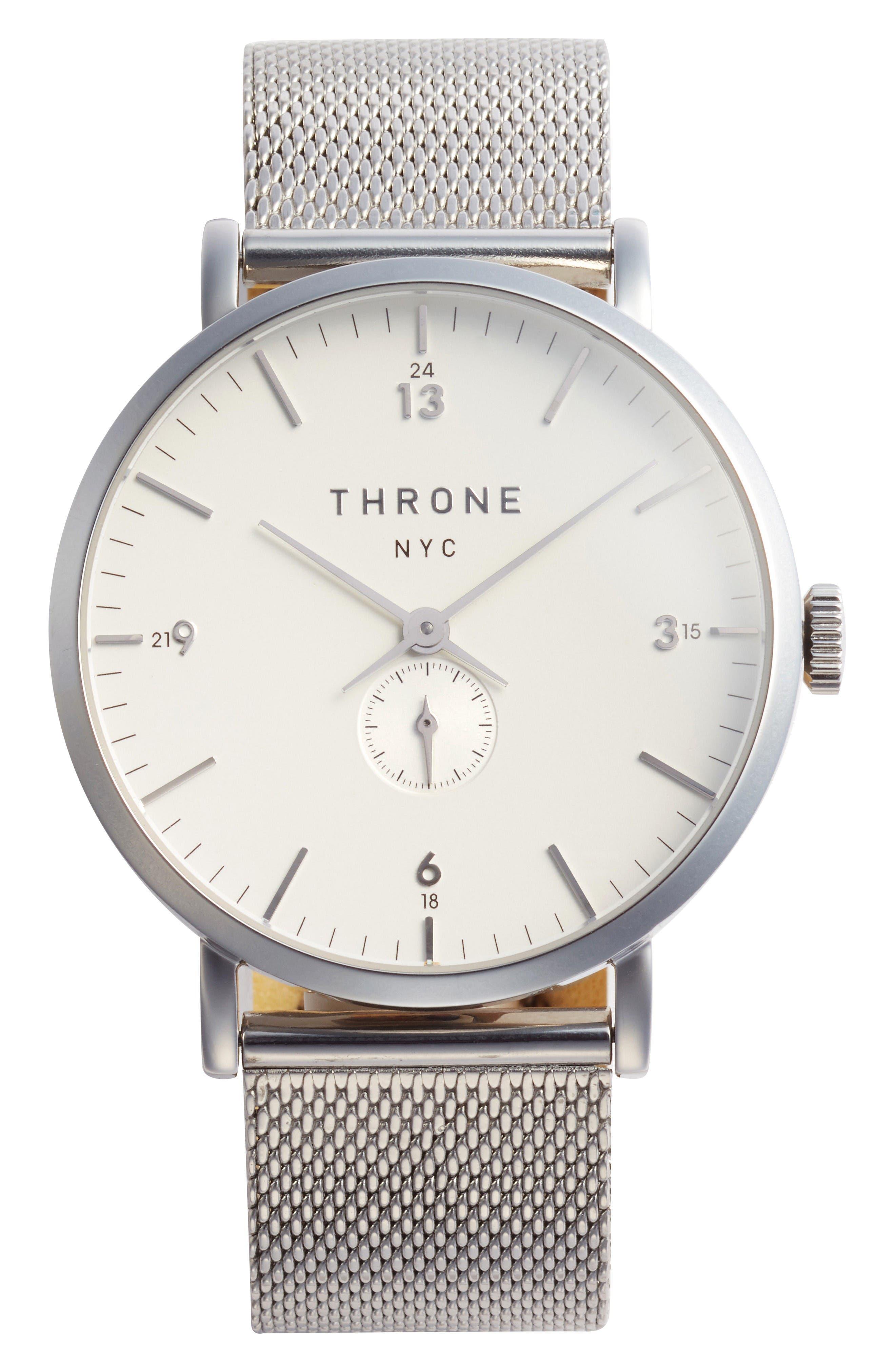 Main Image - Throne 1.0 Mesh Strap Watch, 40mm