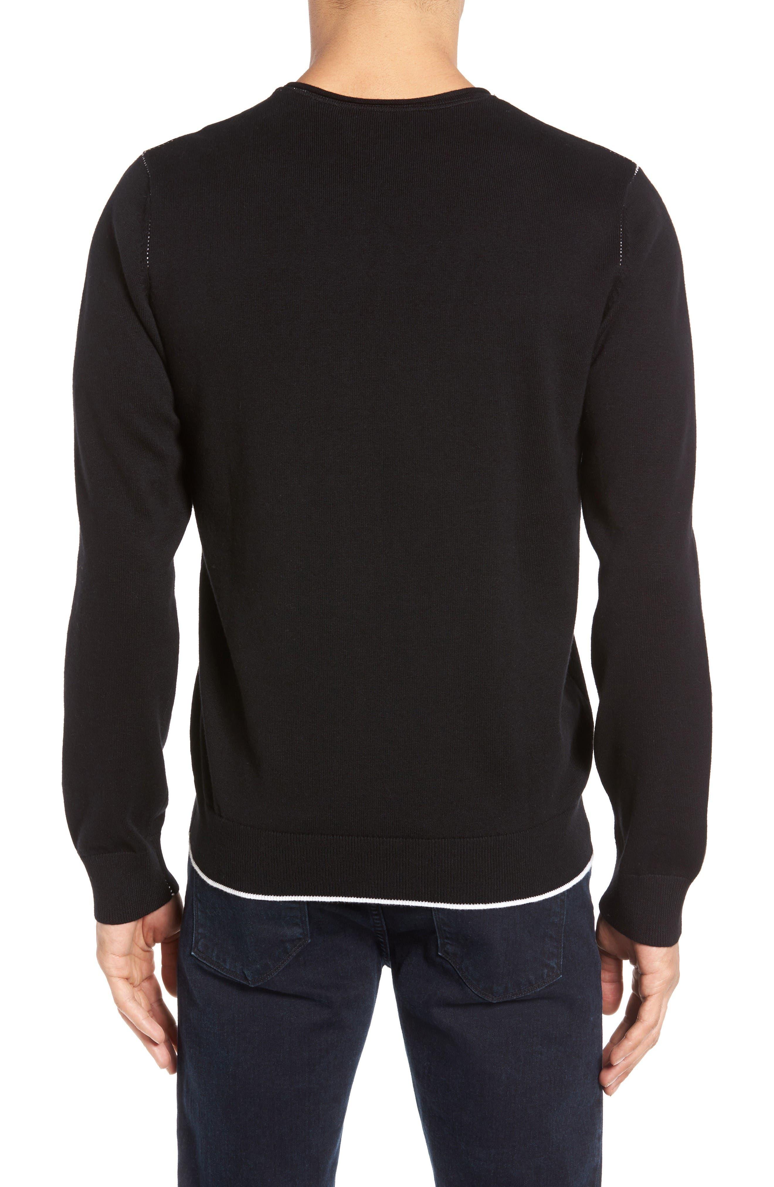 Cedric Cotton & Cashmere Sweater,                             Alternate thumbnail 2, color,                             La Nouvelle Vague True Black