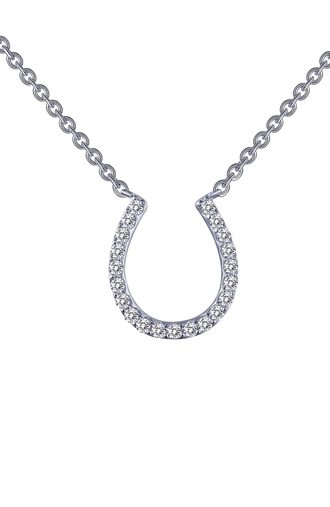 Alternate Image 1 Selected - Lafonn Horseshoe Simulated Diamond Pendant Necklace