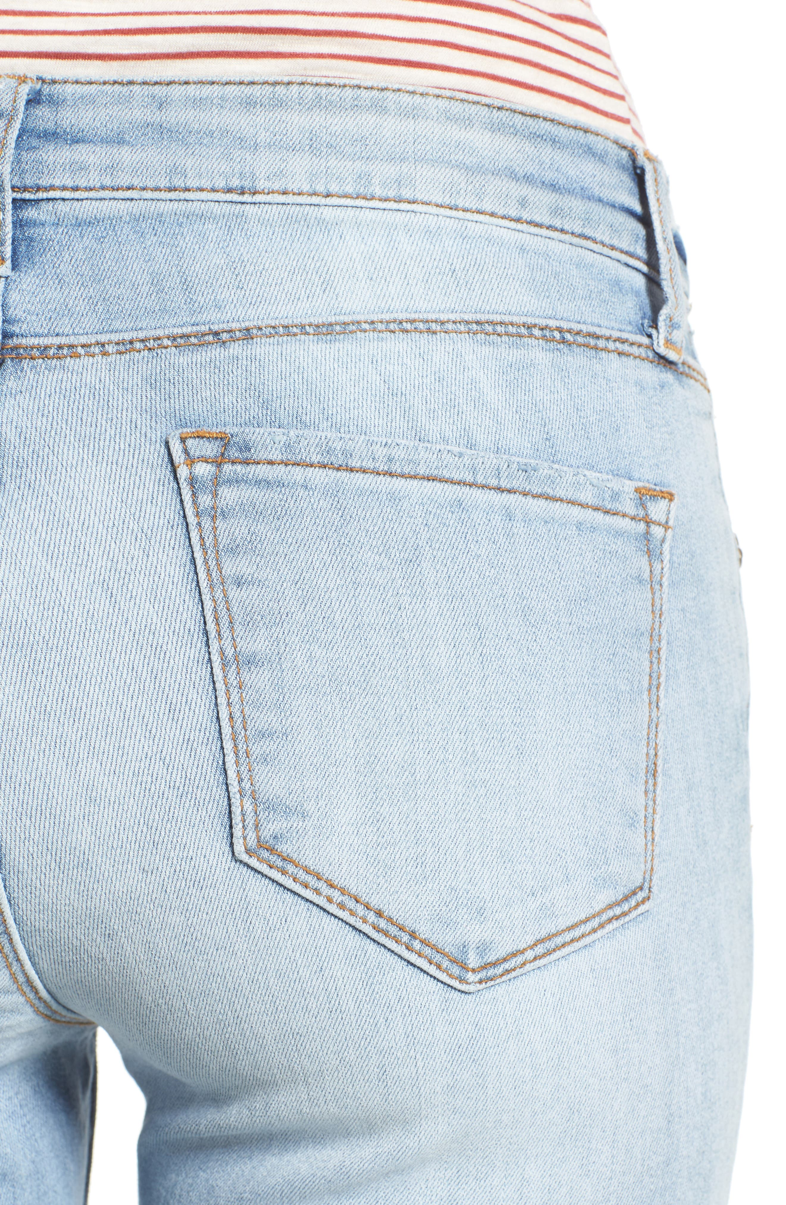 Alternate Image 4  - KUT from the Kloth Reese Uneven Hem Straight Ankle Jeans (Celebratory)