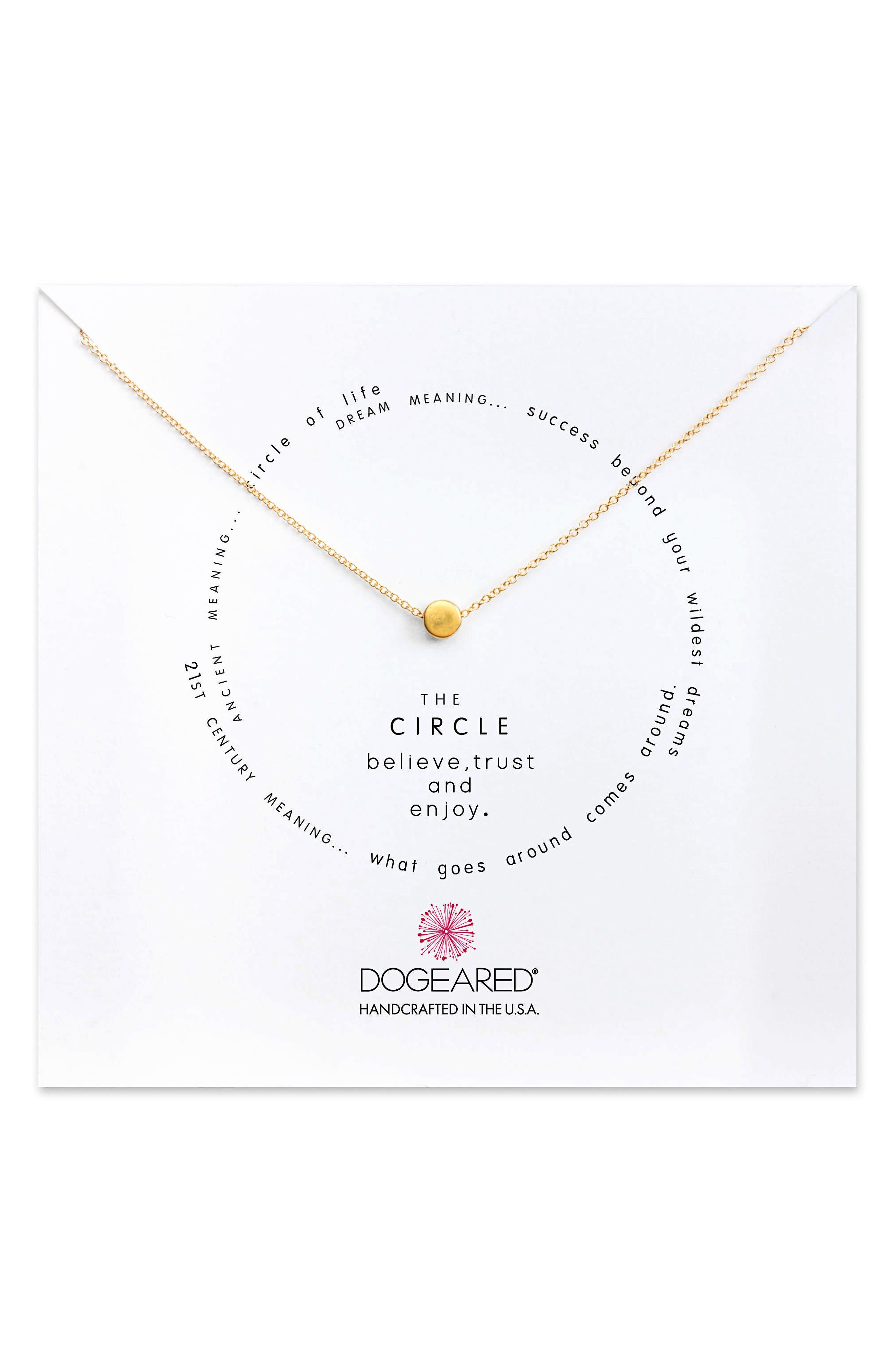 Dogeared Circle Pendant Necklace