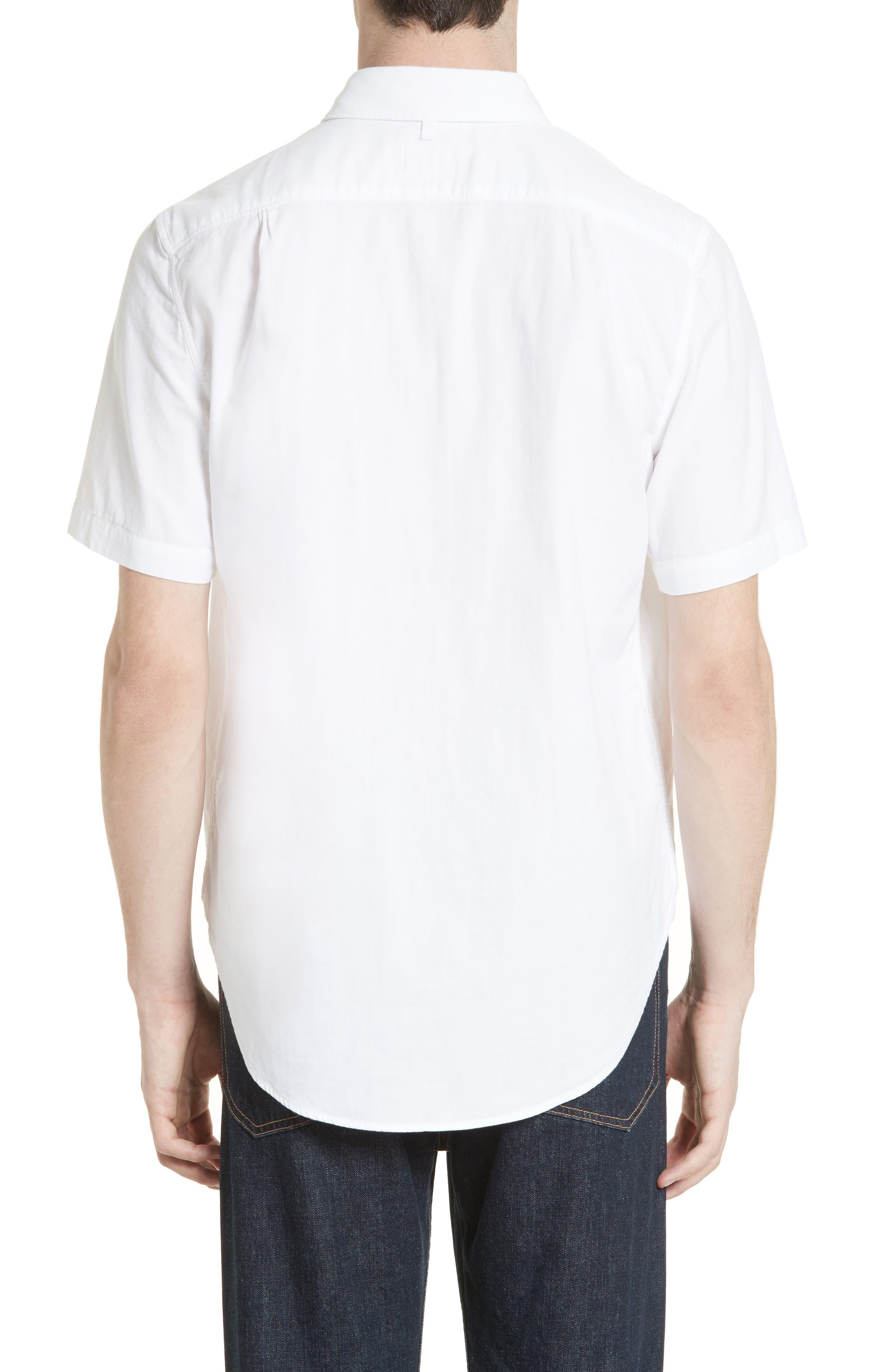 Standard Issue Beach Trim Fit Sport Shirt,                             Alternate thumbnail 3, color,                             White