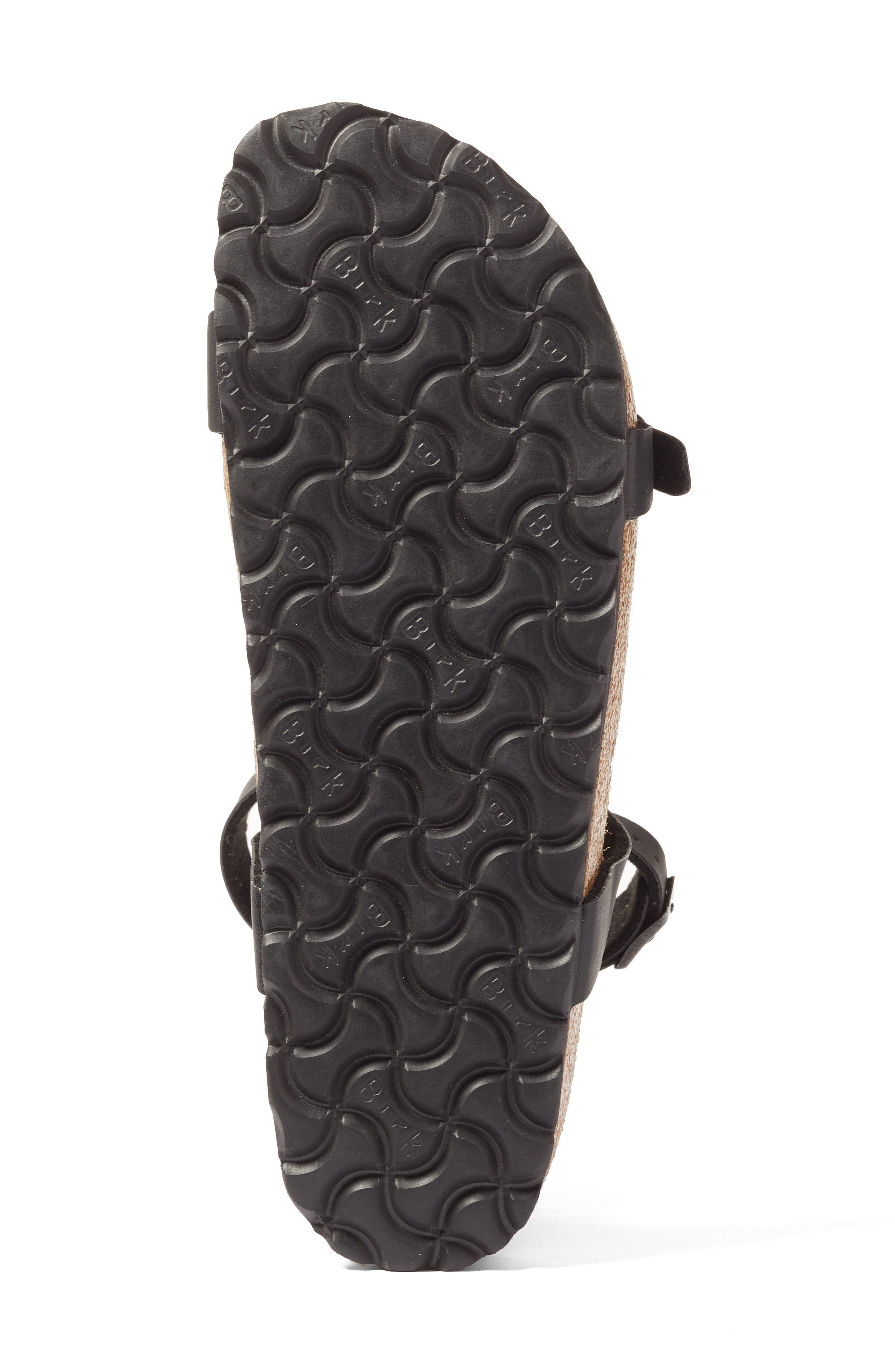 Daloa Ankle Strap Sandal,                             Alternate thumbnail 4, color,                             Black