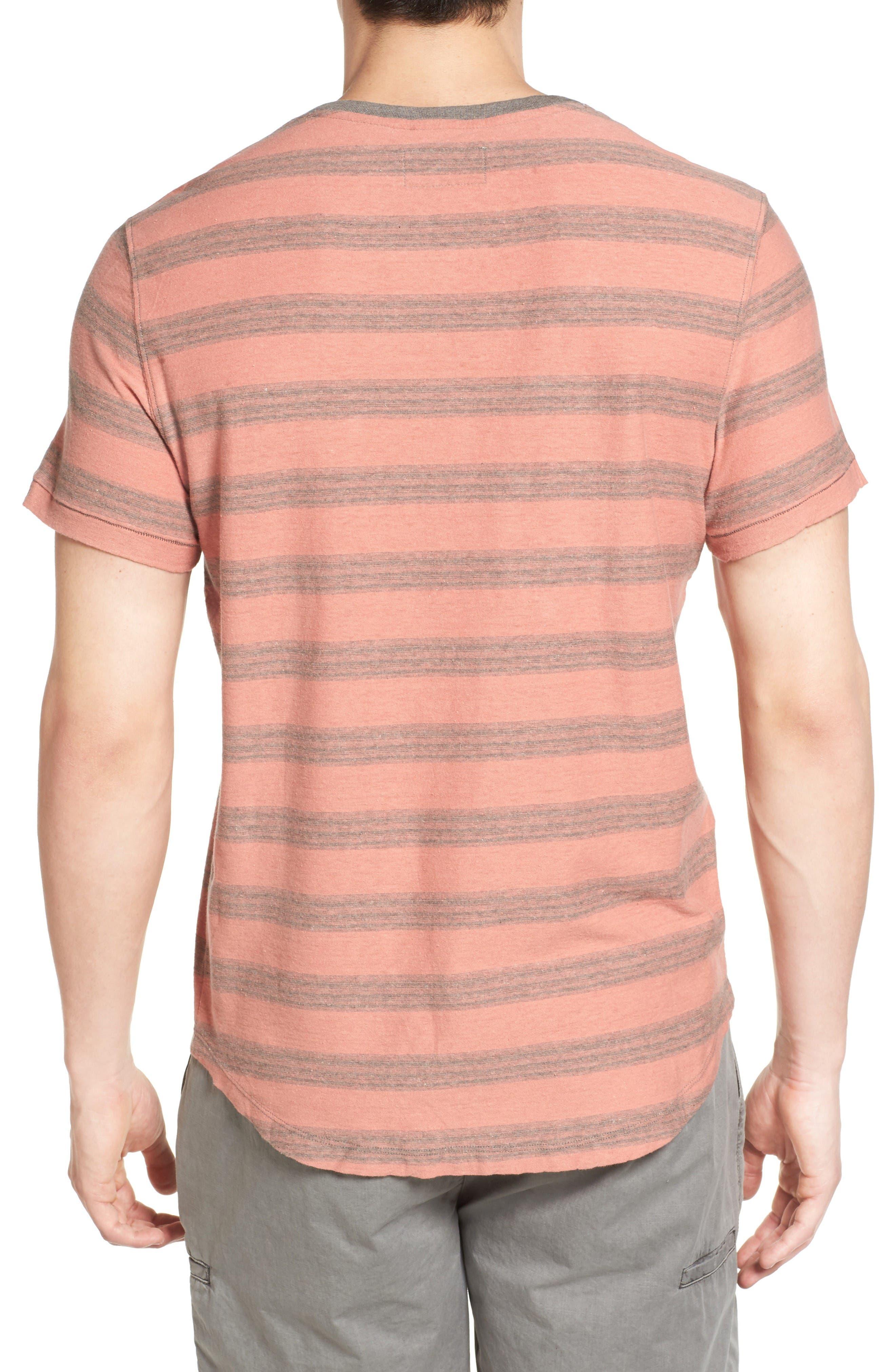 Alternate Image 2  - Jeremiah Ventura Stripe Linen & Cotton T-Shirt