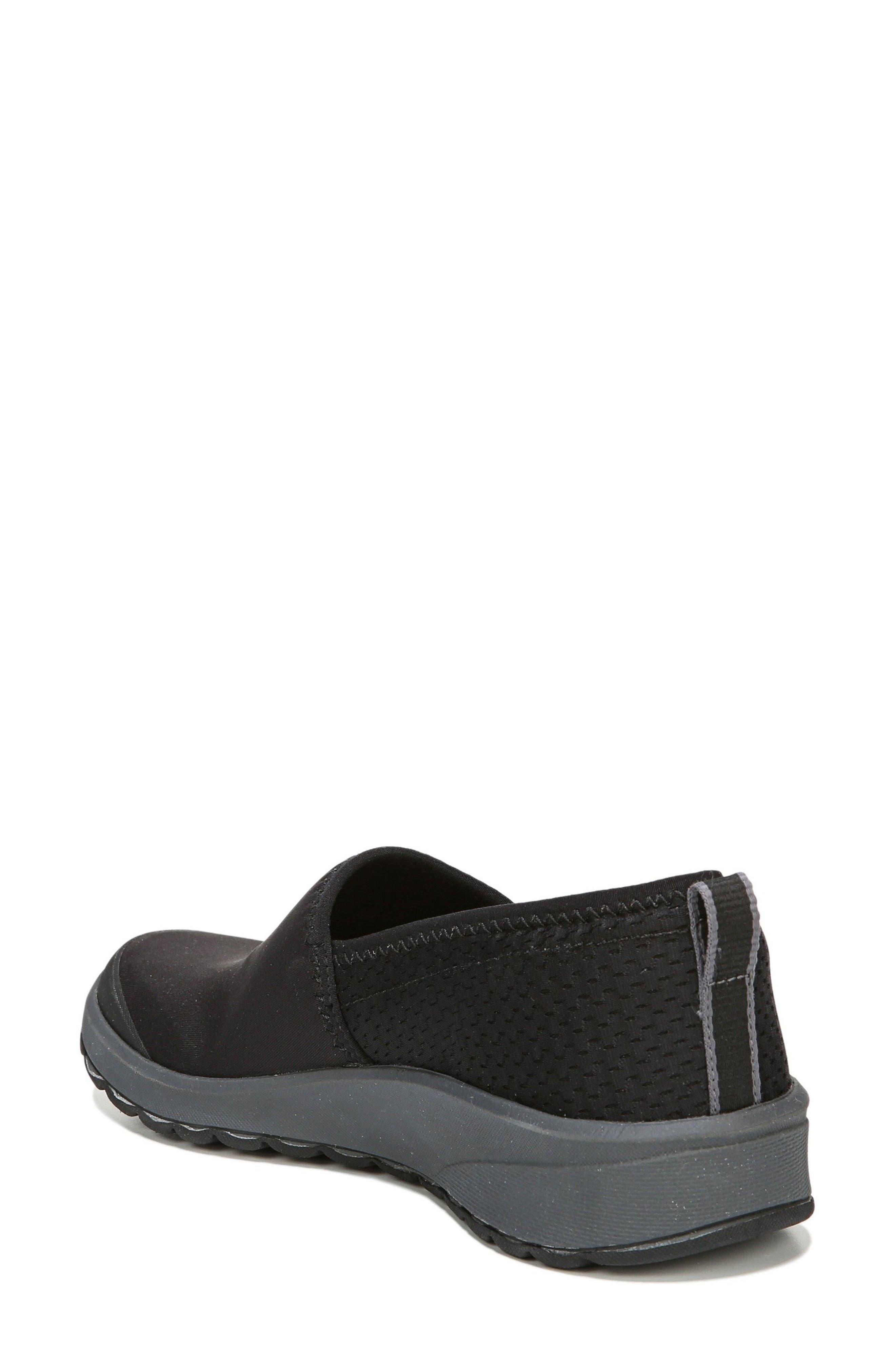 Glee Slip-On Sneaker,                             Alternate thumbnail 2, color,                             Black Fabric