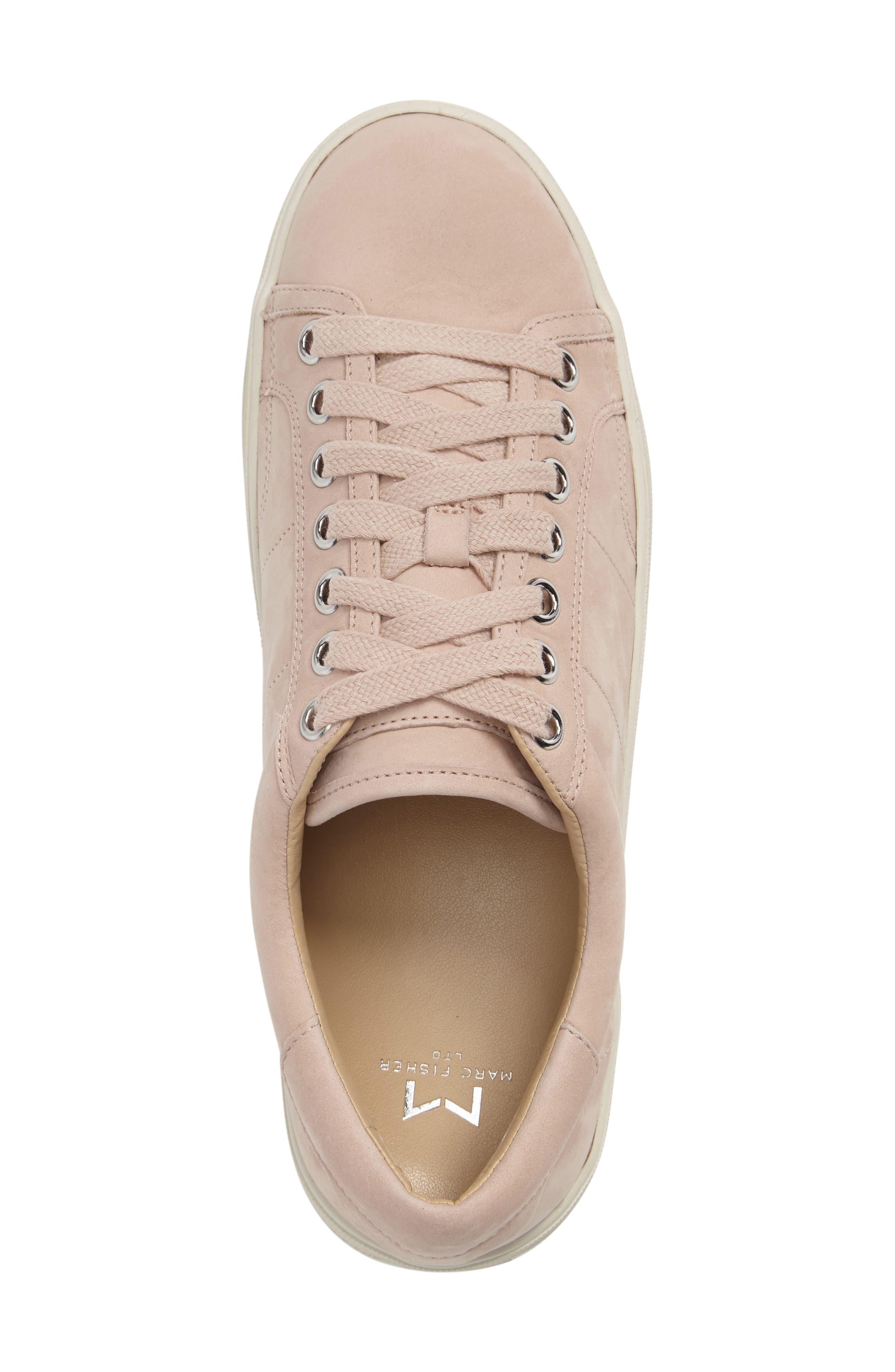 Emmy Platform Sneaker,                             Alternate thumbnail 3, color,                             Pink Nubuck Leather