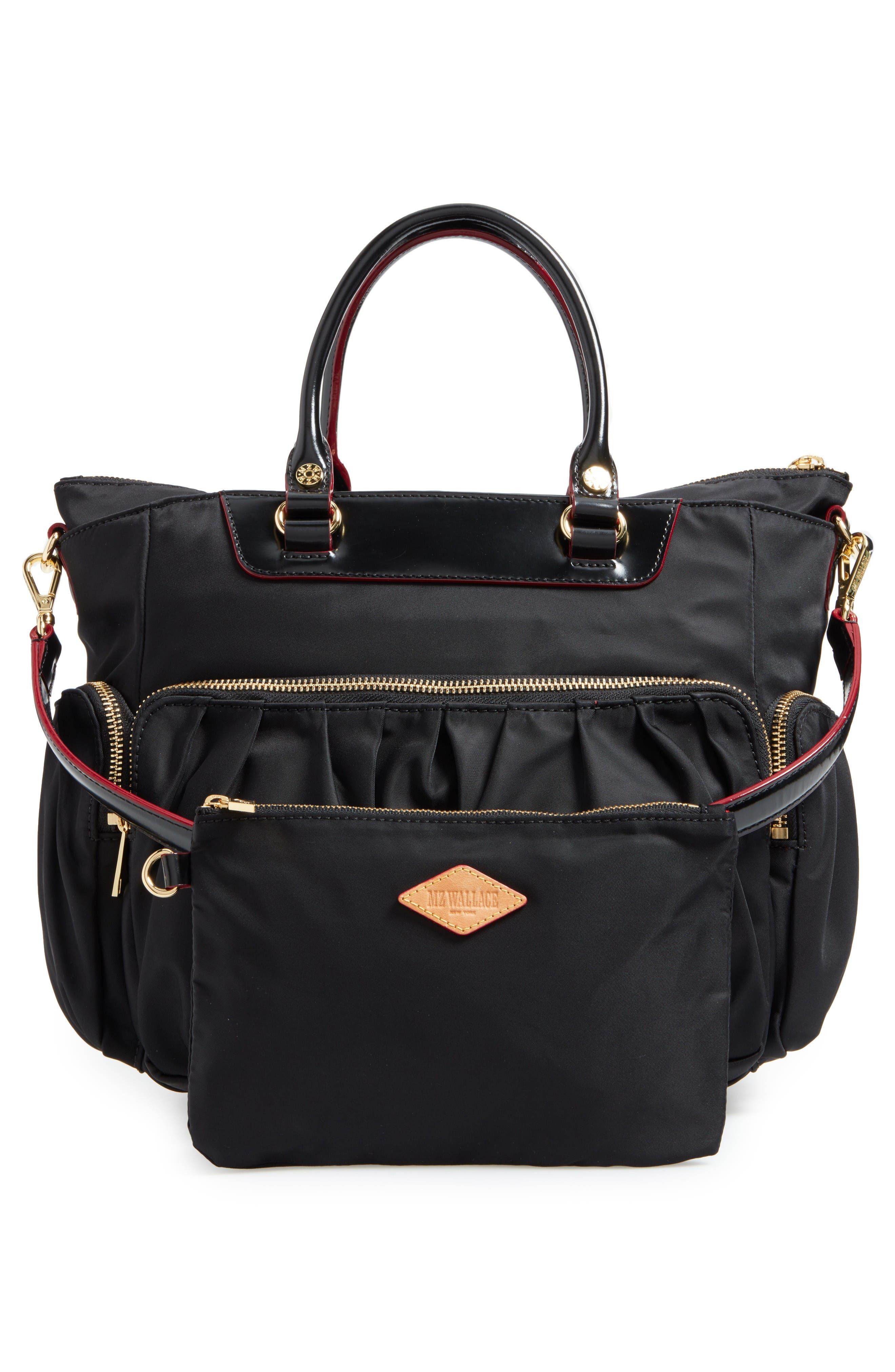 Small Abbey Tote,                             Alternate thumbnail 3, color,                             Black Bedford