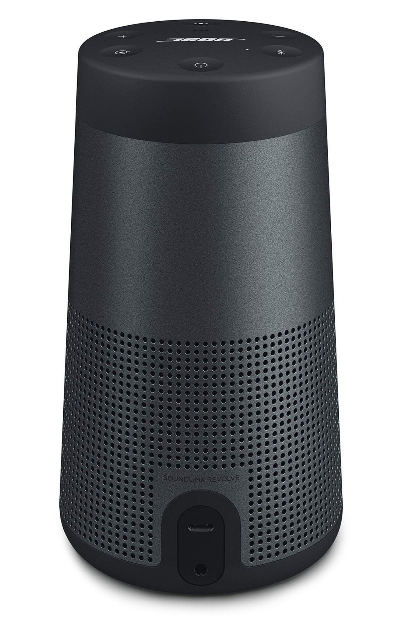 SoundLink<sup>®</sup> Revolve Bluetooth<sup>®</sup> Speaker,                             Alternate thumbnail 3, color,                             Black
