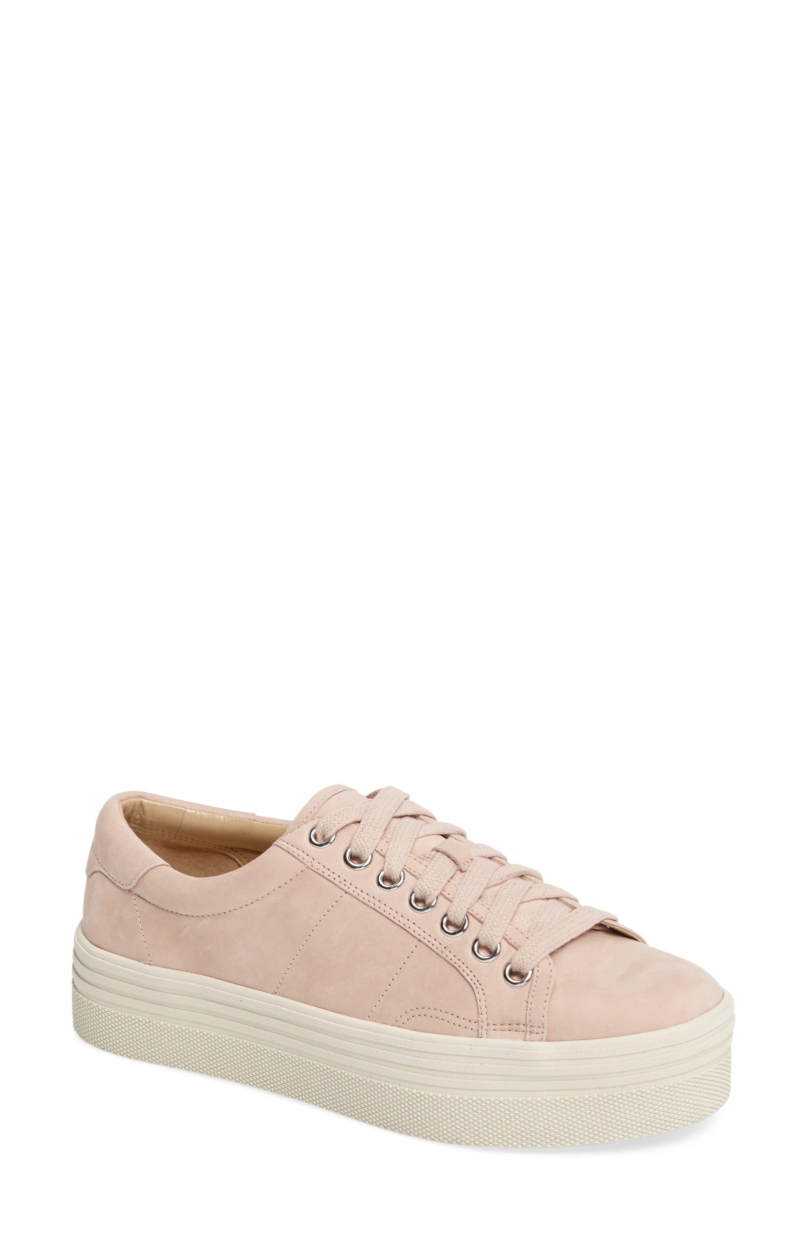 Emmy Platform Sneaker,                         Main,                         color, Pink Nubuck Leather