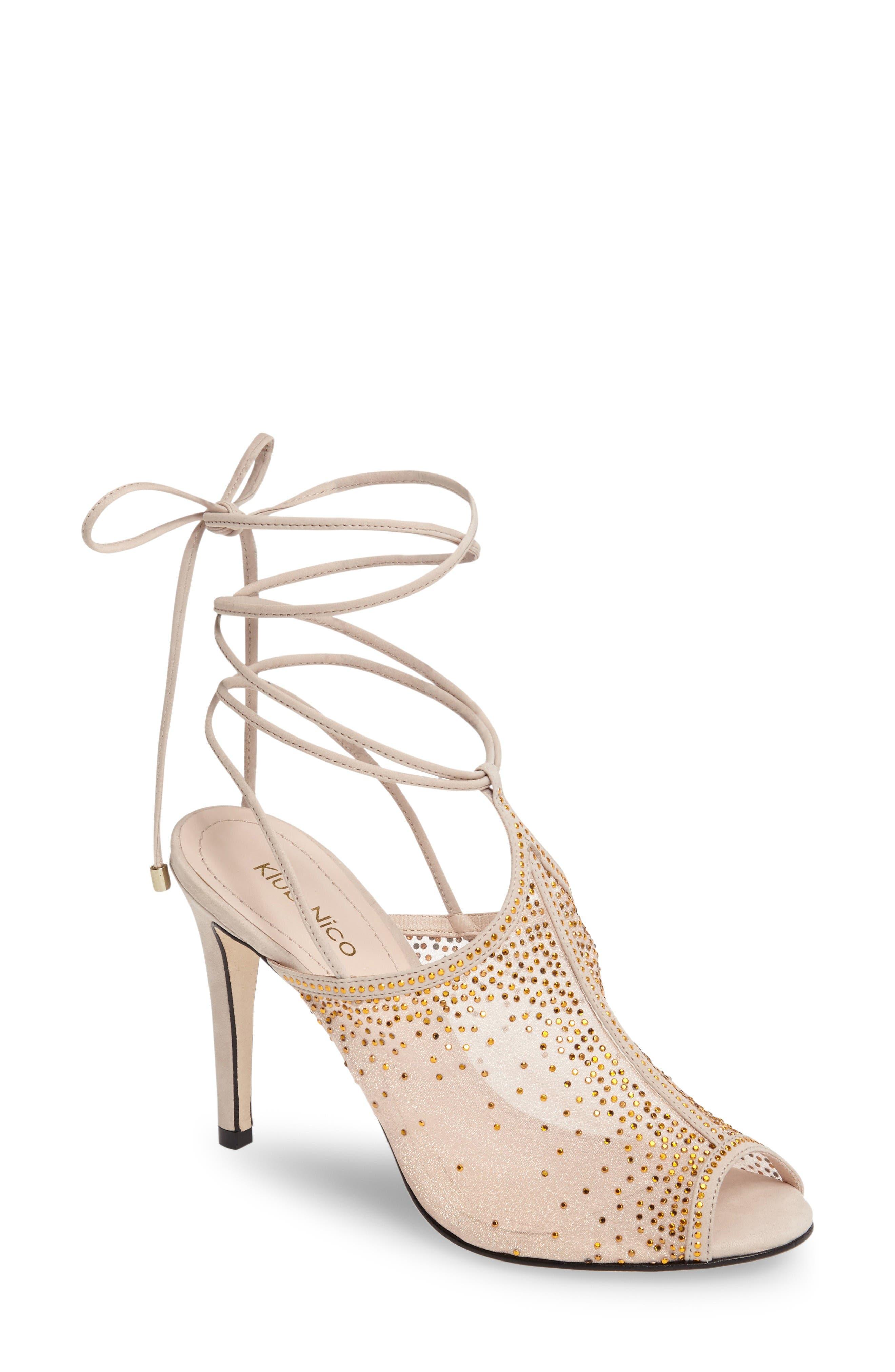 Alternate Image 1 Selected - Klub Nico Margeaux Embellished Wraparound Sandal (Women)