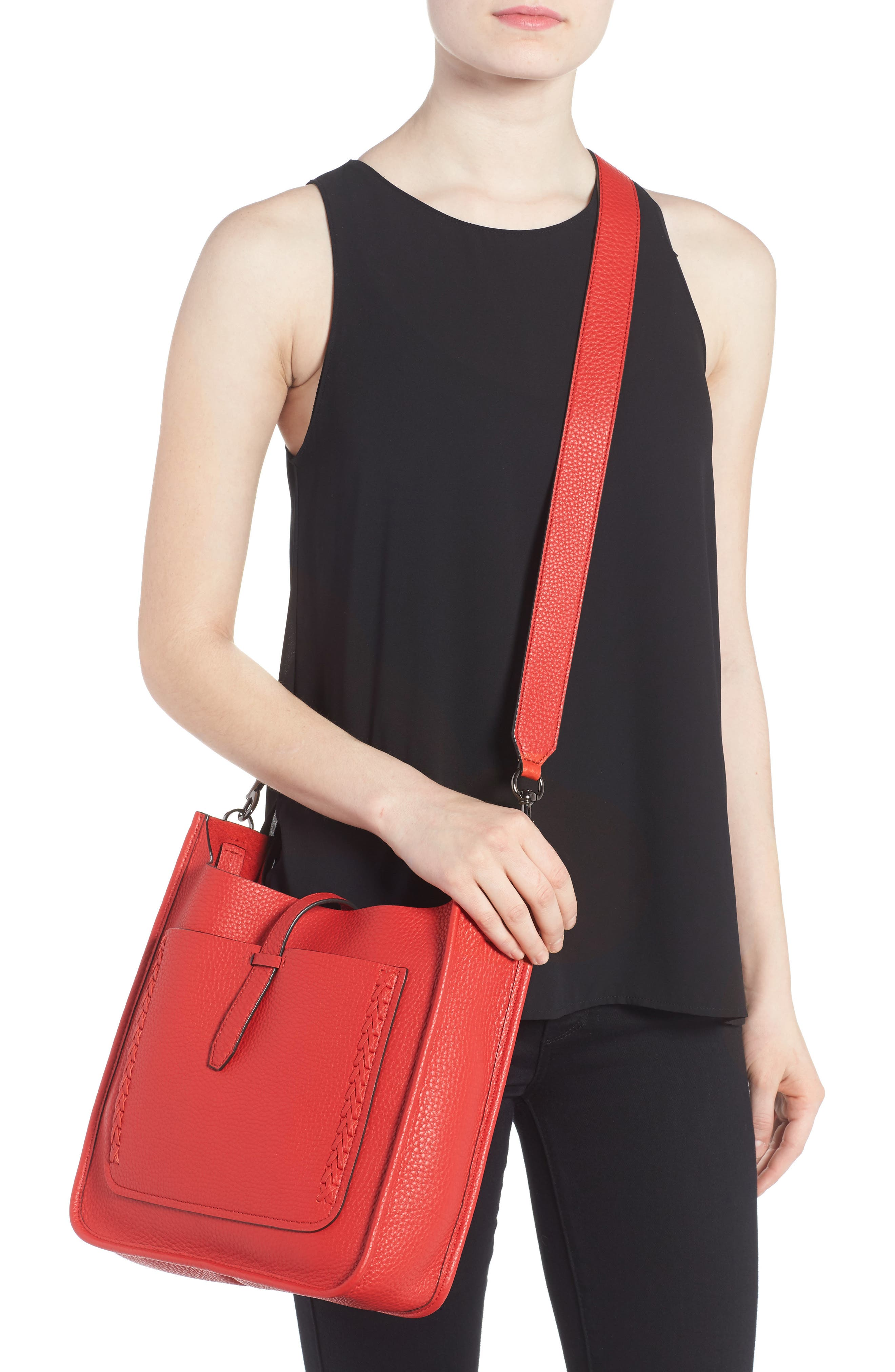 Alternate Image 2  - Rebecca Minkoff Unlined Whipstitch Feed Bag