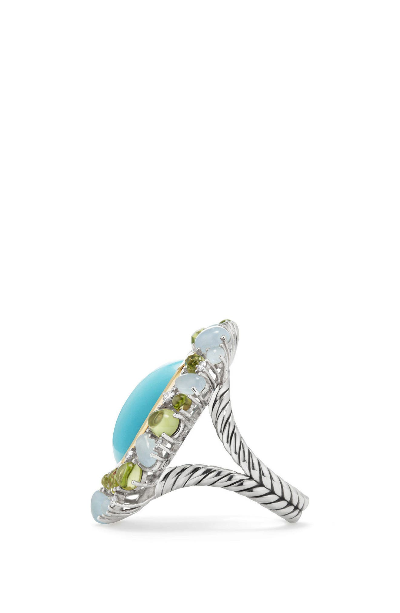 Mustique Statement Ring with Diamonds,                             Alternate thumbnail 2, color,                             Silver/ Multi