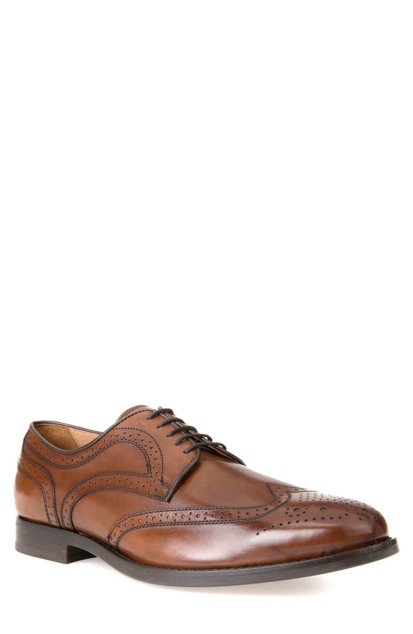 Hampstead 5 Wingtip,                         Main,                         color, Dark Cognac Leather